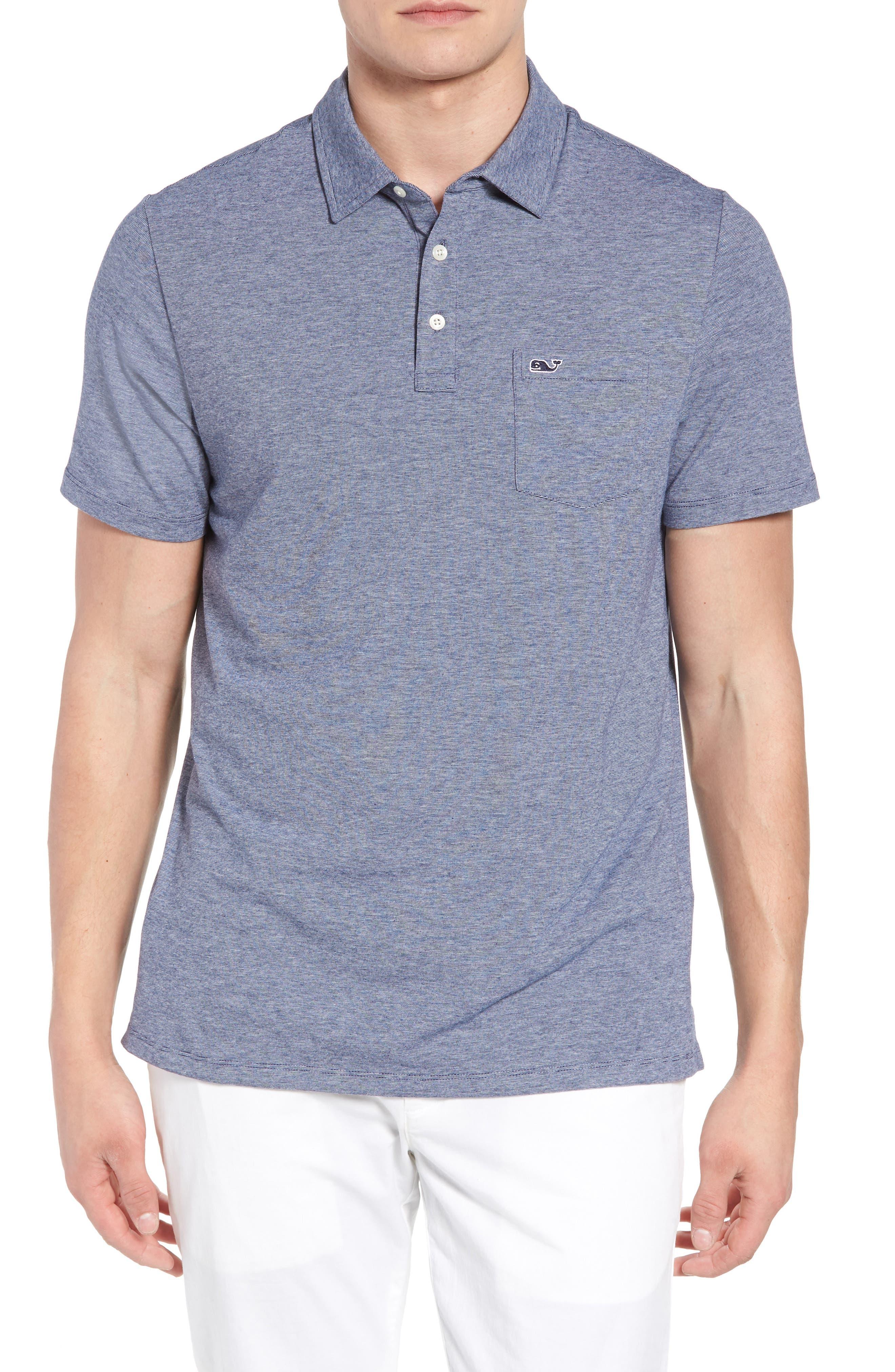 VINEYARD VINES Edgartown Polo Shirt, Main, color, DEEP BAY