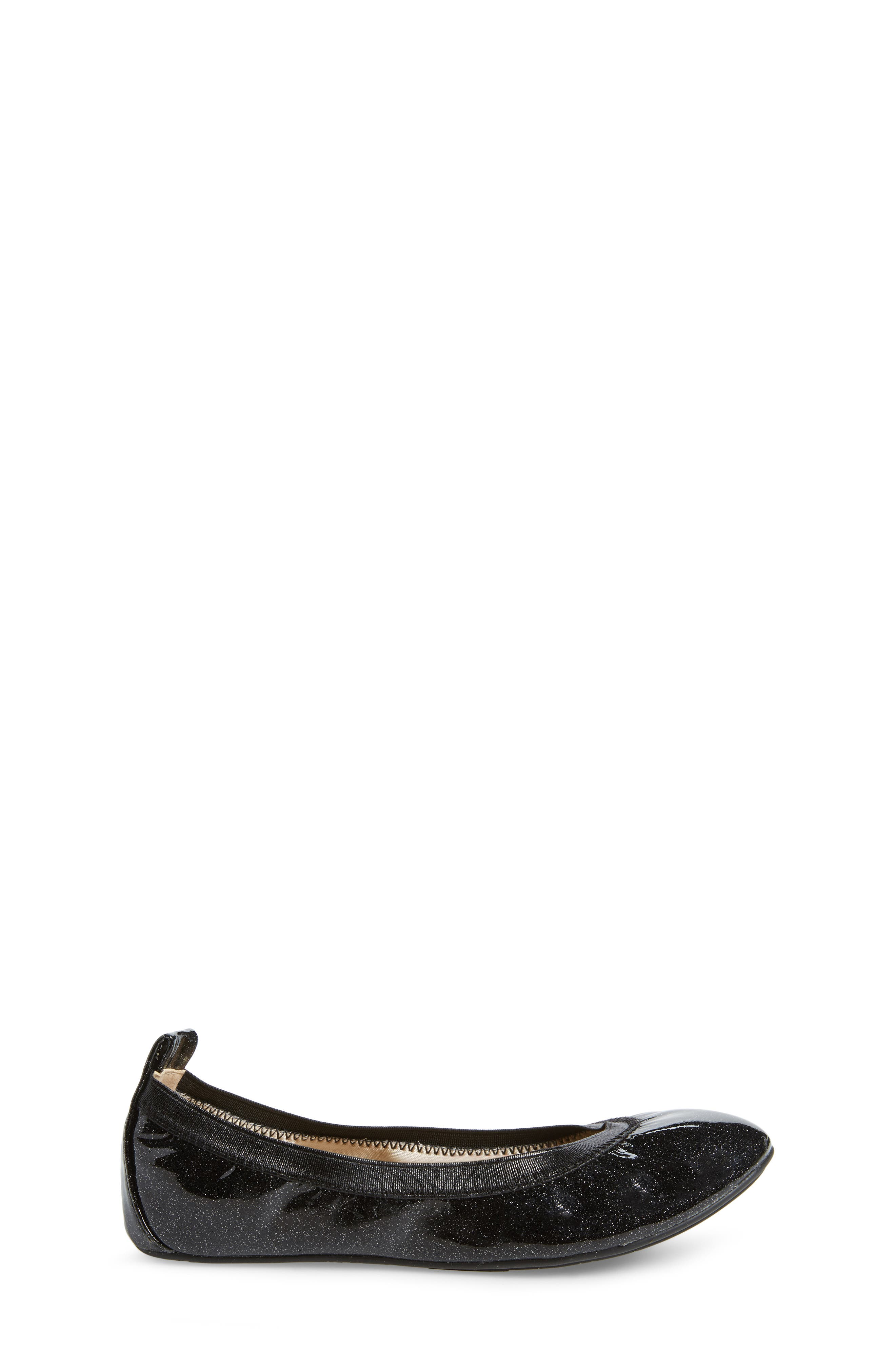 Miss Samara Ballet Flat,                             Alternate thumbnail 3, color,                             BLACK PATENT GLITTER