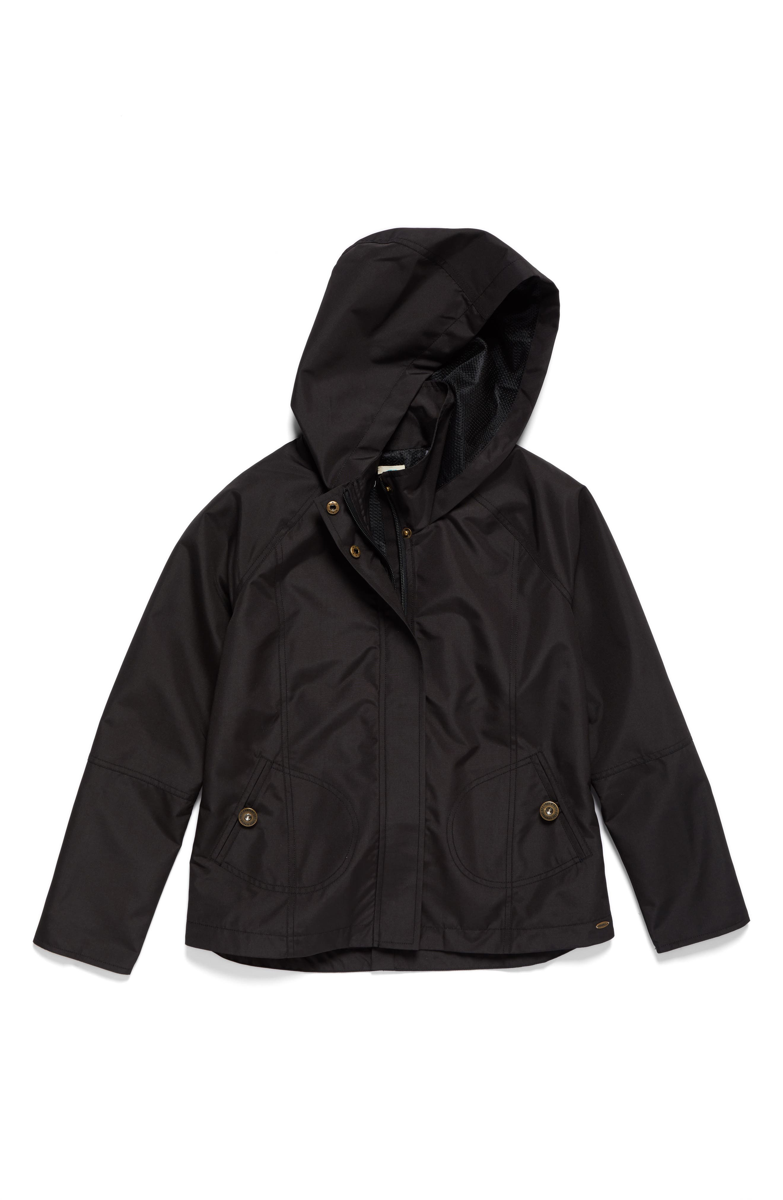 O'NEILL,                             Windy Water Resistant Hooded Jacket,                             Main thumbnail 1, color,                             BLACK