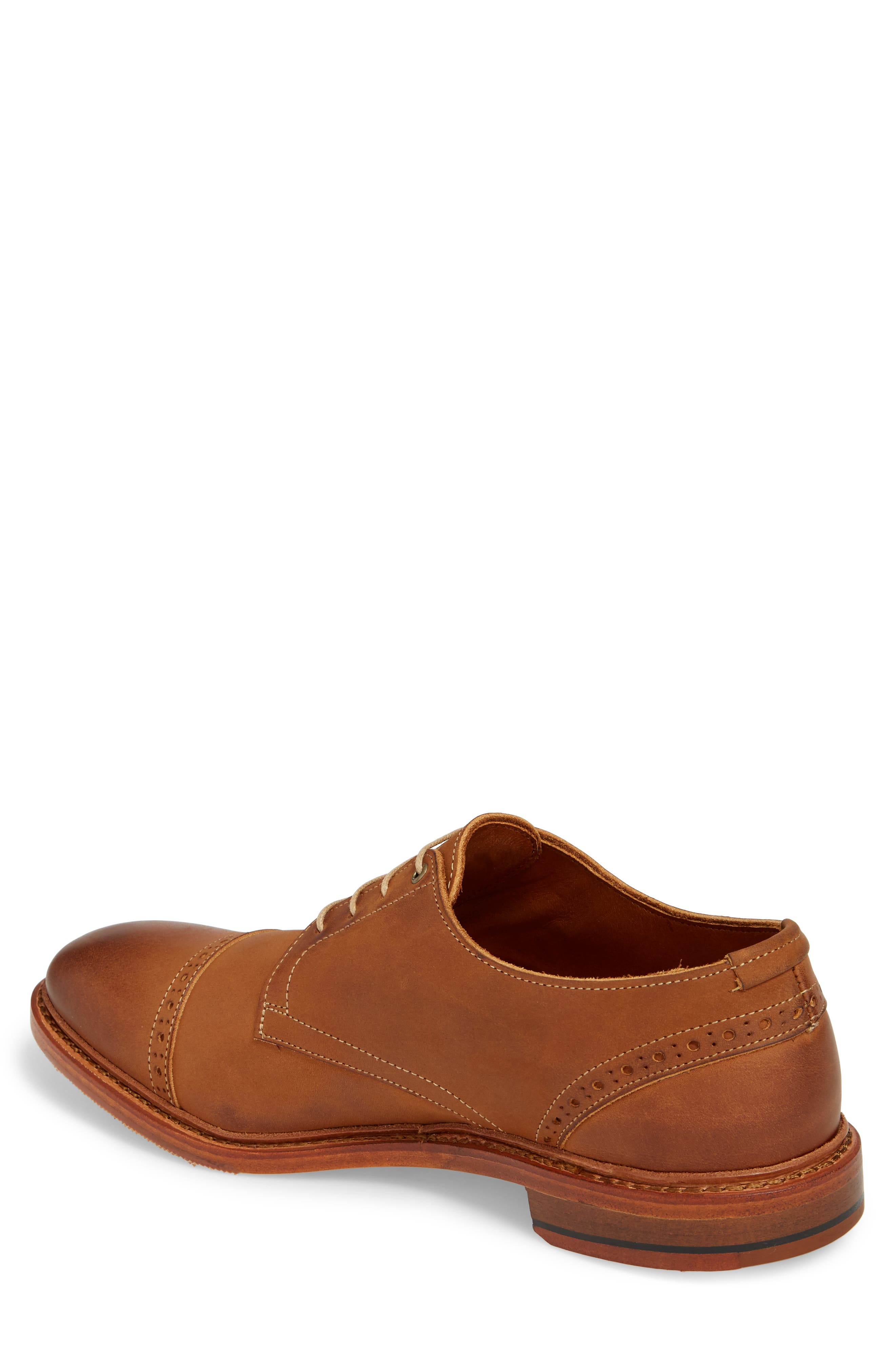Kitsap Cap Toe Derby,                             Alternate thumbnail 2, color,                             TAN LEATHER