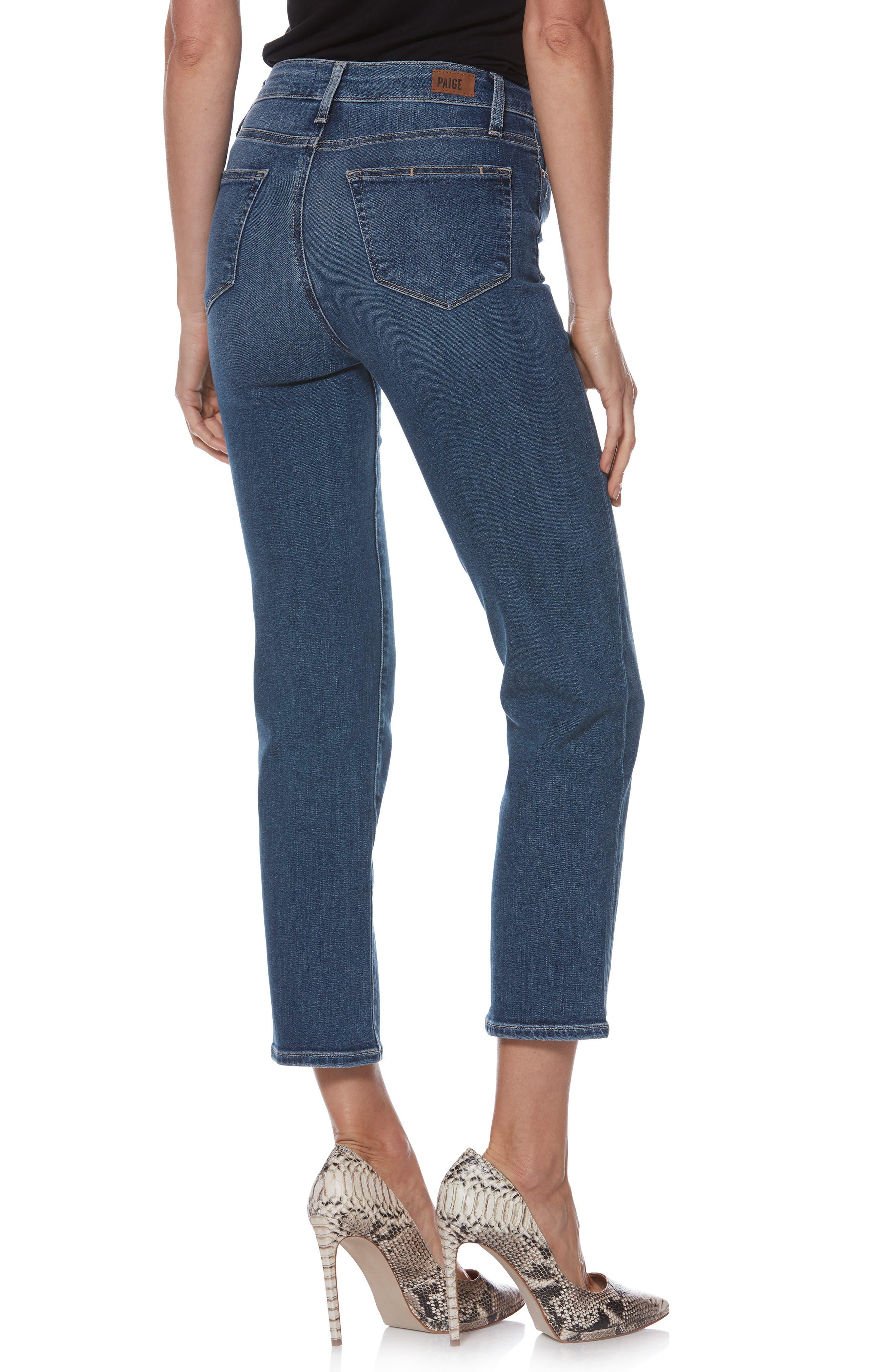 Transcend Vintage - Margot High Waist Ankle Straight Leg Jeans,                             Alternate thumbnail 2, color,                             HANNIE