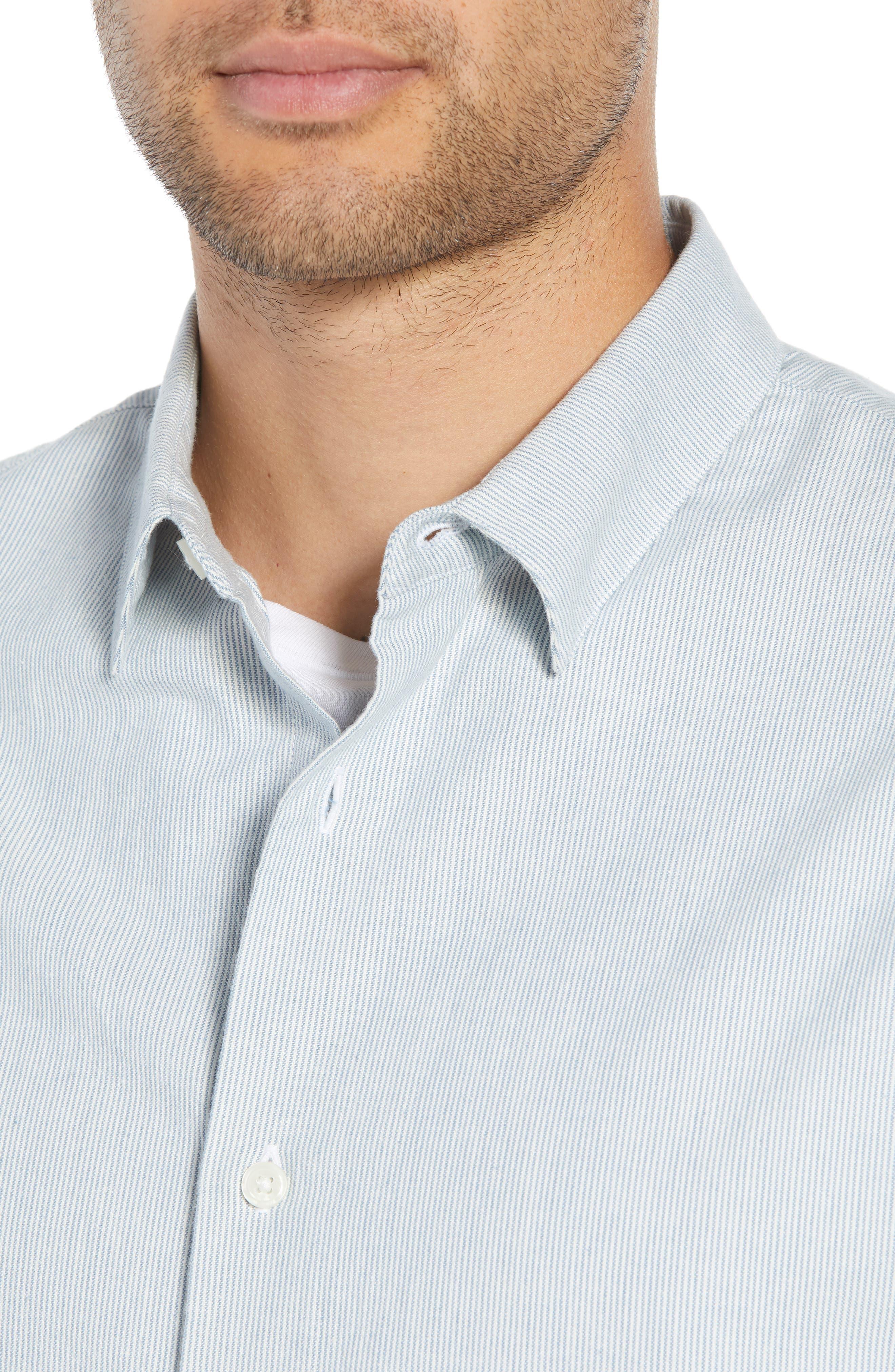 Classic Fit Microstripe Sport Shirt,                             Alternate thumbnail 2, color,                             424