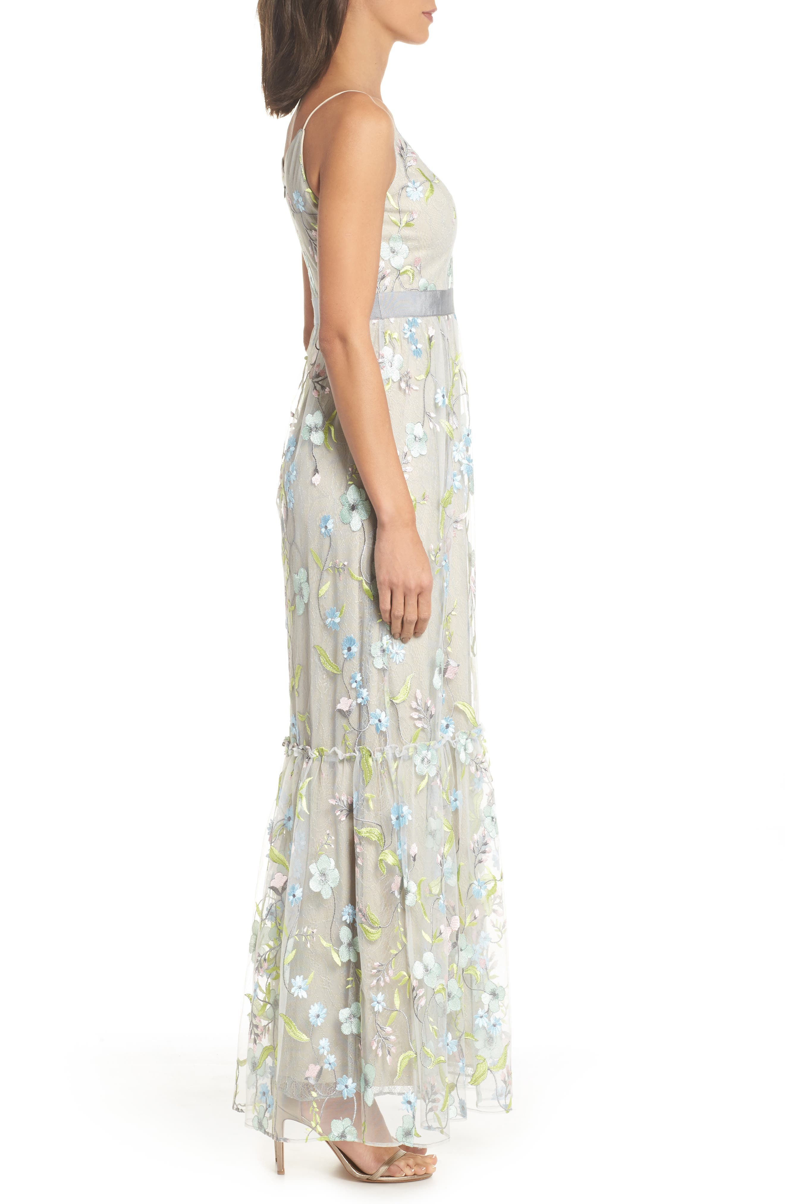 Embroidered Gown,                             Alternate thumbnail 3, color,                             320