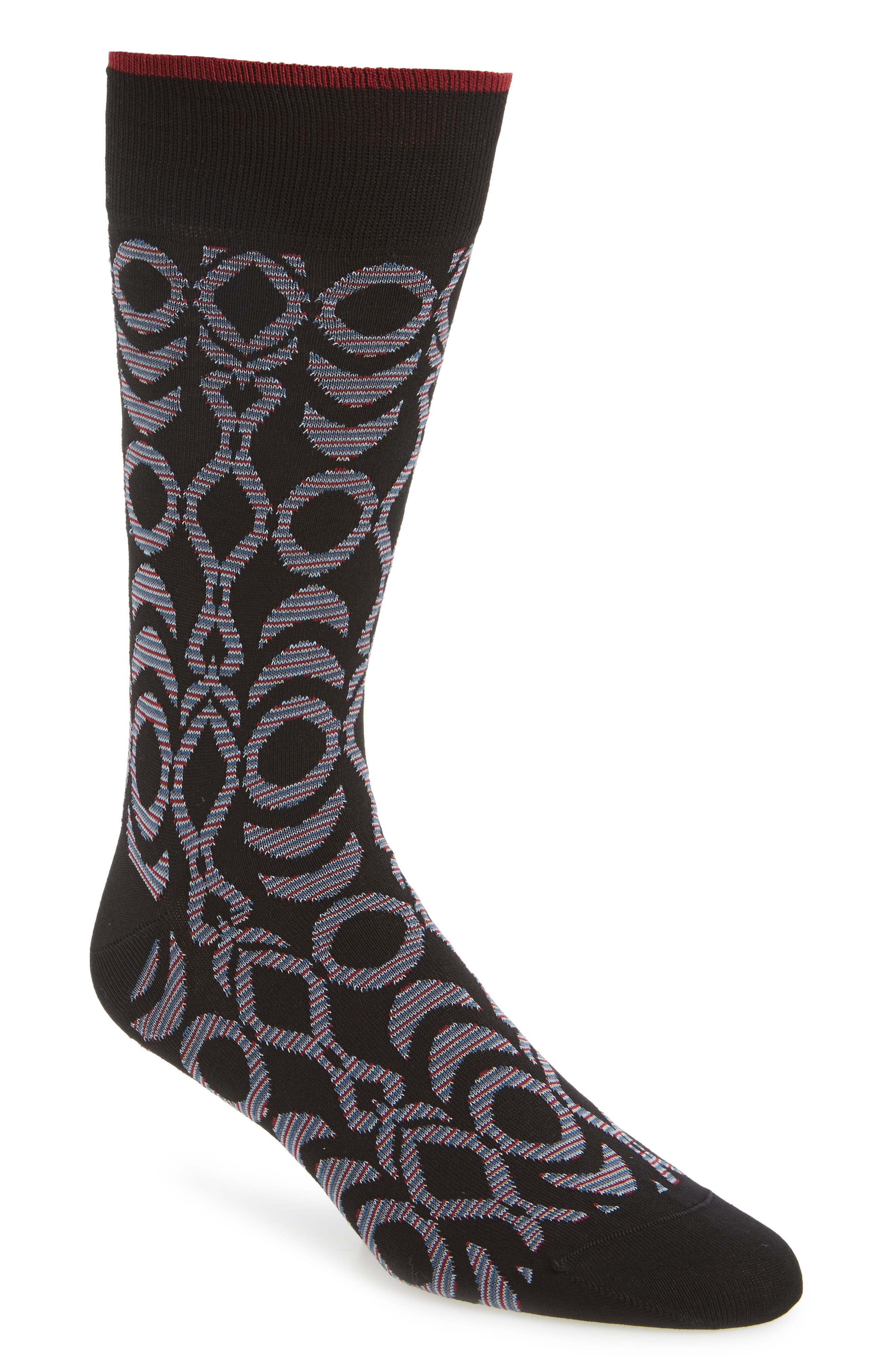 Geometric Socks,                             Main thumbnail 1, color,                             001