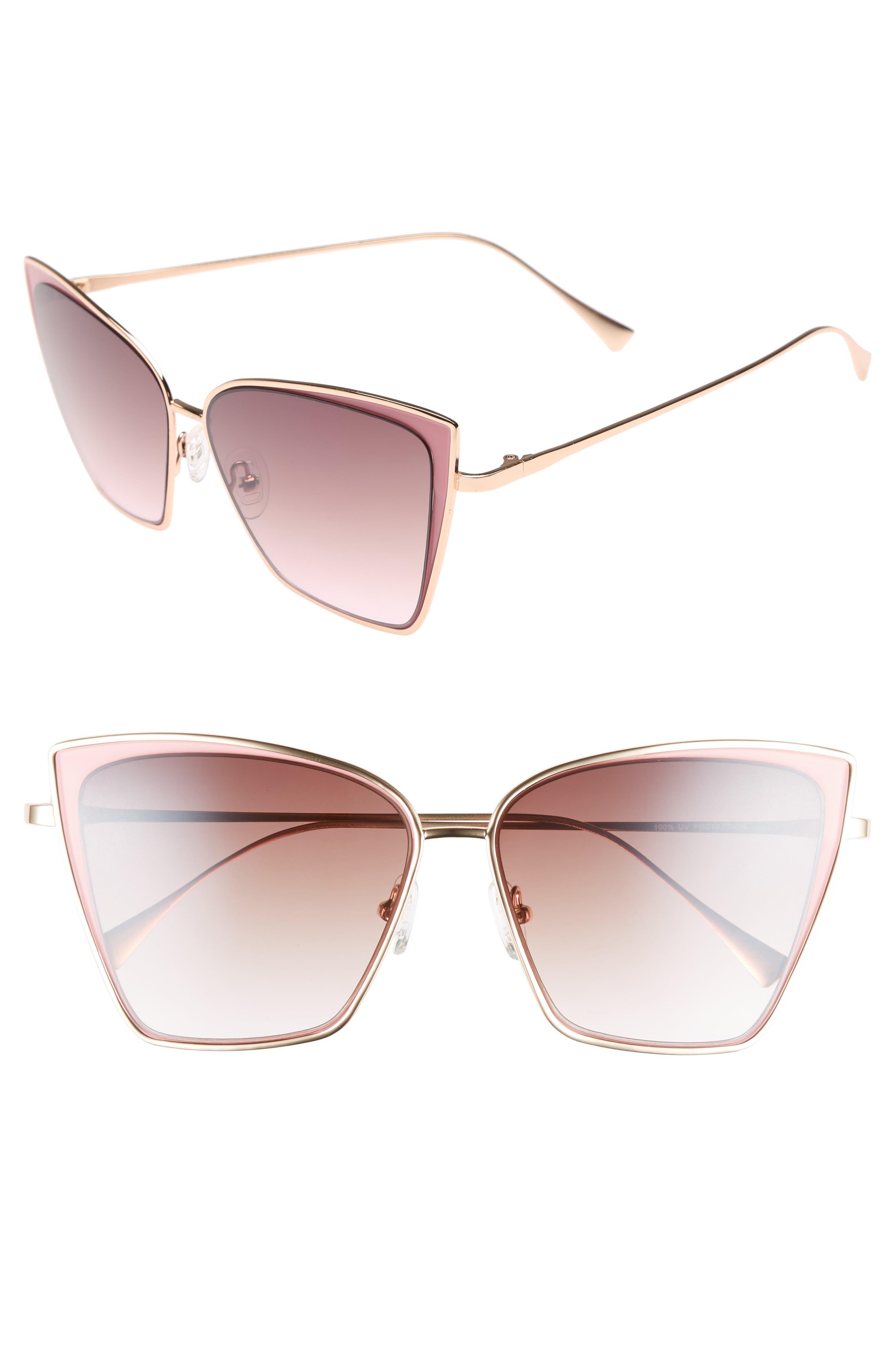Pinkaboo 58mm Sunglasses,                             Main thumbnail 1, color,                             650