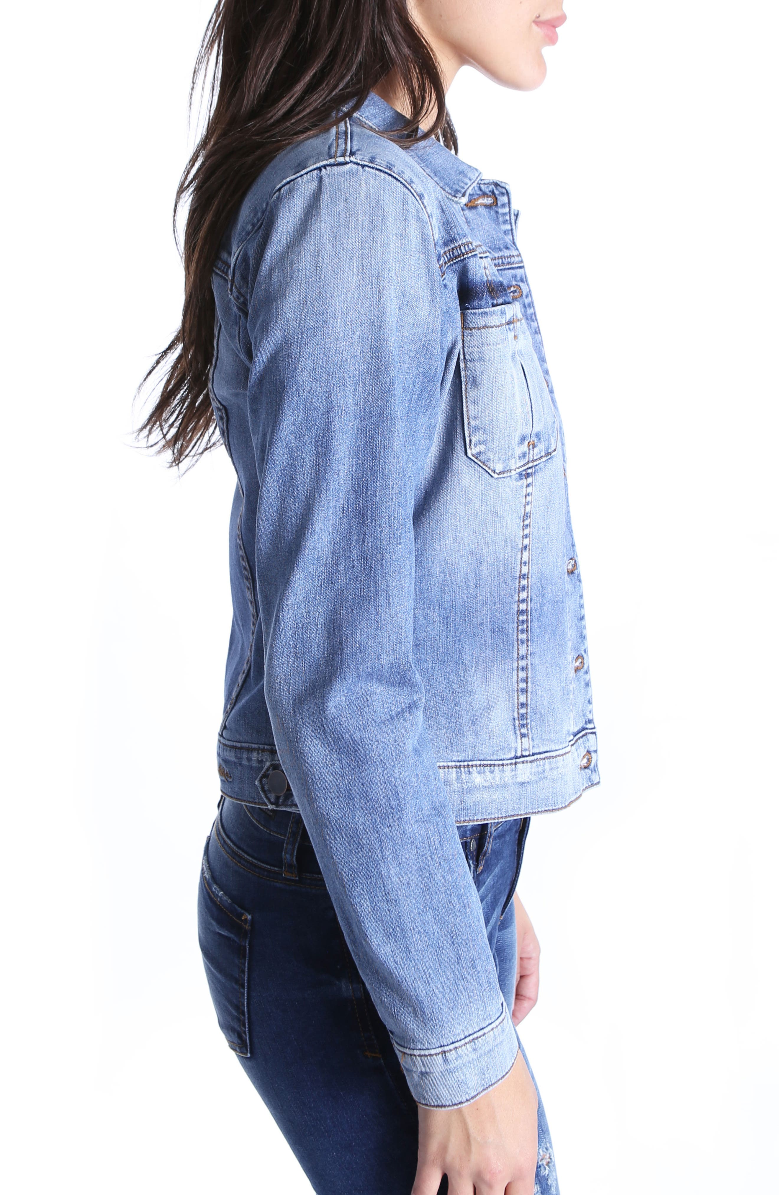 Juko Denim Jacket,                             Alternate thumbnail 3, color,                             400