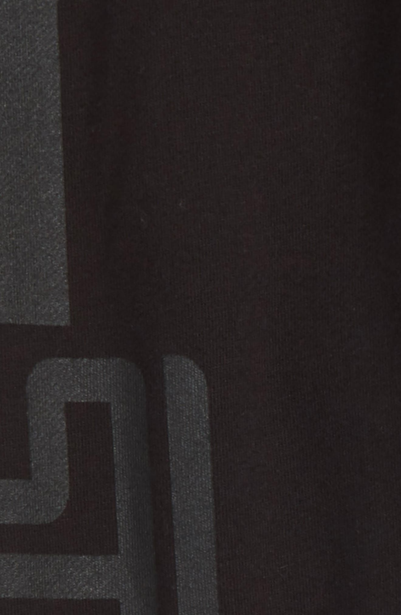 Stella McCartney Logo Sweatpants,                             Alternate thumbnail 3, color,                             BLACK