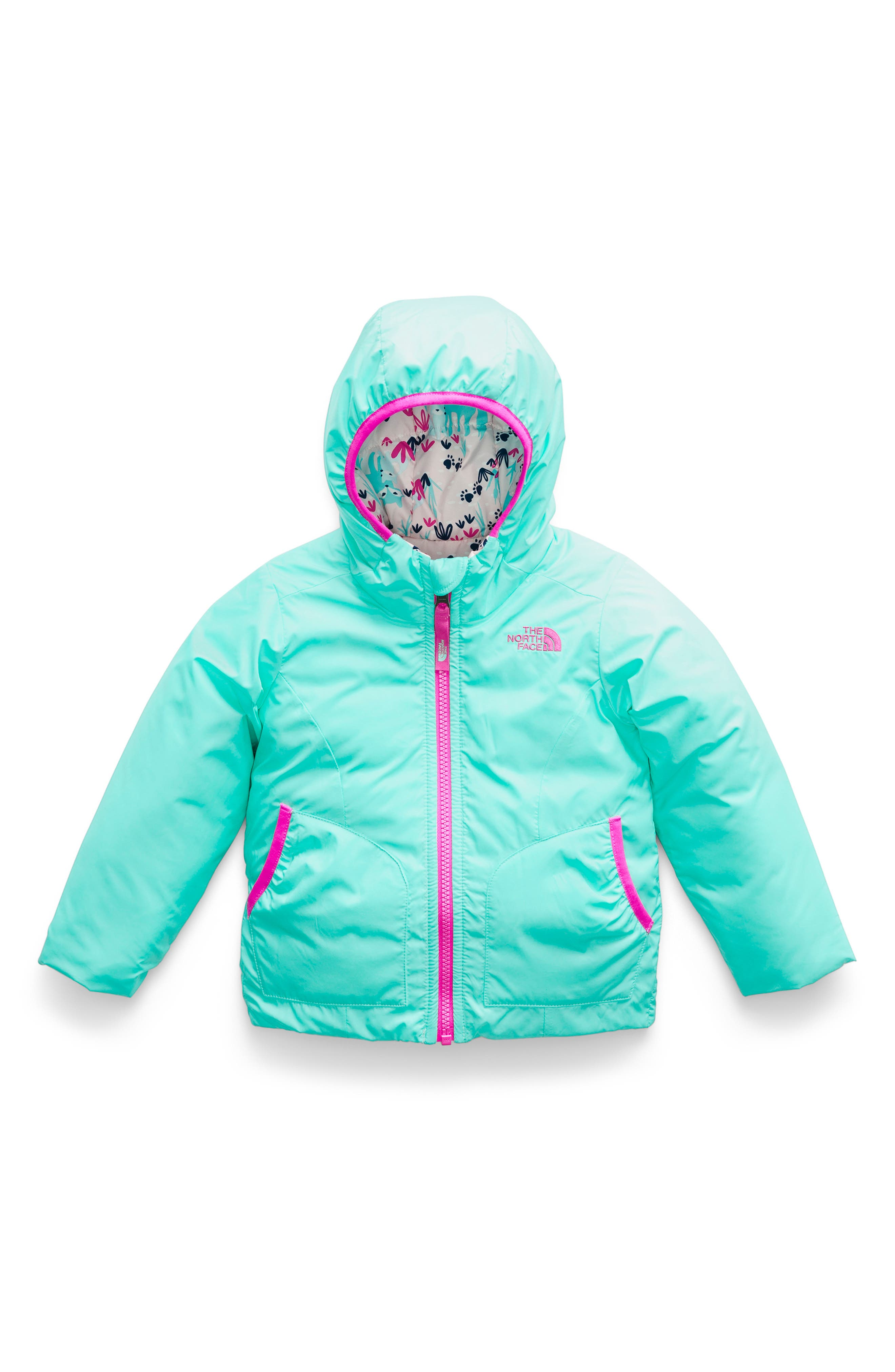 Perrito Reversible Water Repellent Heatseeker<sup>™</sup> Insulated Jacket,                         Main,                         color, MINT BLUE