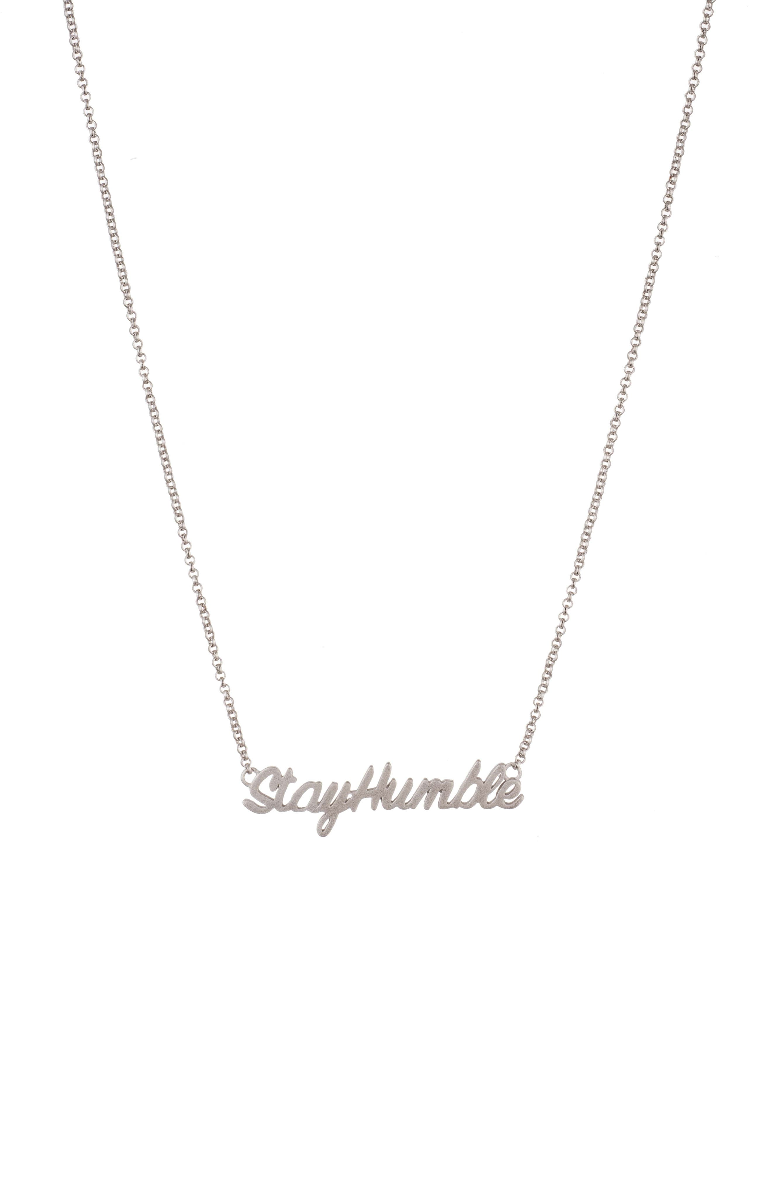 Stay Humble Necklace,                         Main,                         color, 040
