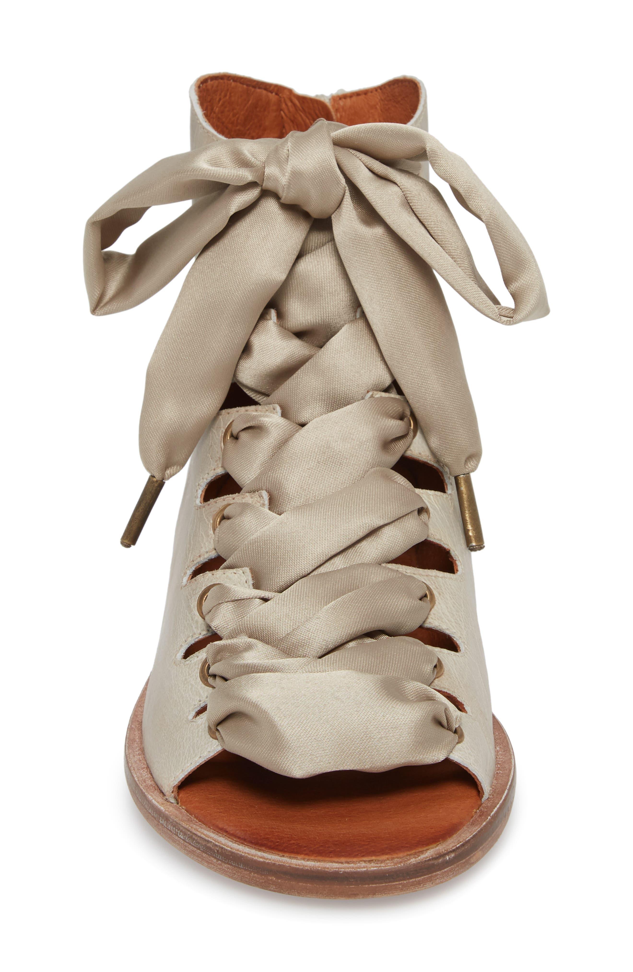 Palms Lace-Up Bootie Sandal,                             Alternate thumbnail 4, color,                             230