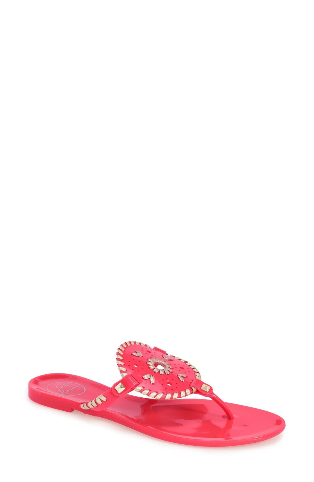 'Georgica' Jelly Flip Flop,                             Main thumbnail 41, color,