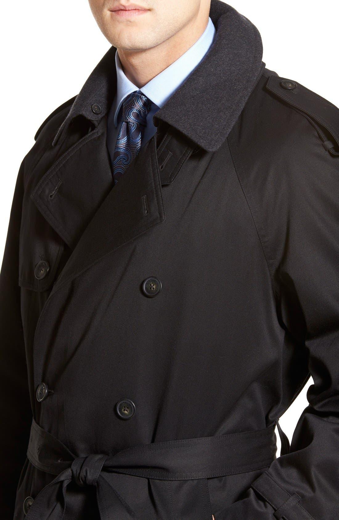 Barrington Classic Fit Cotton Blend Trench Coat,                             Alternate thumbnail 6, color,                             001