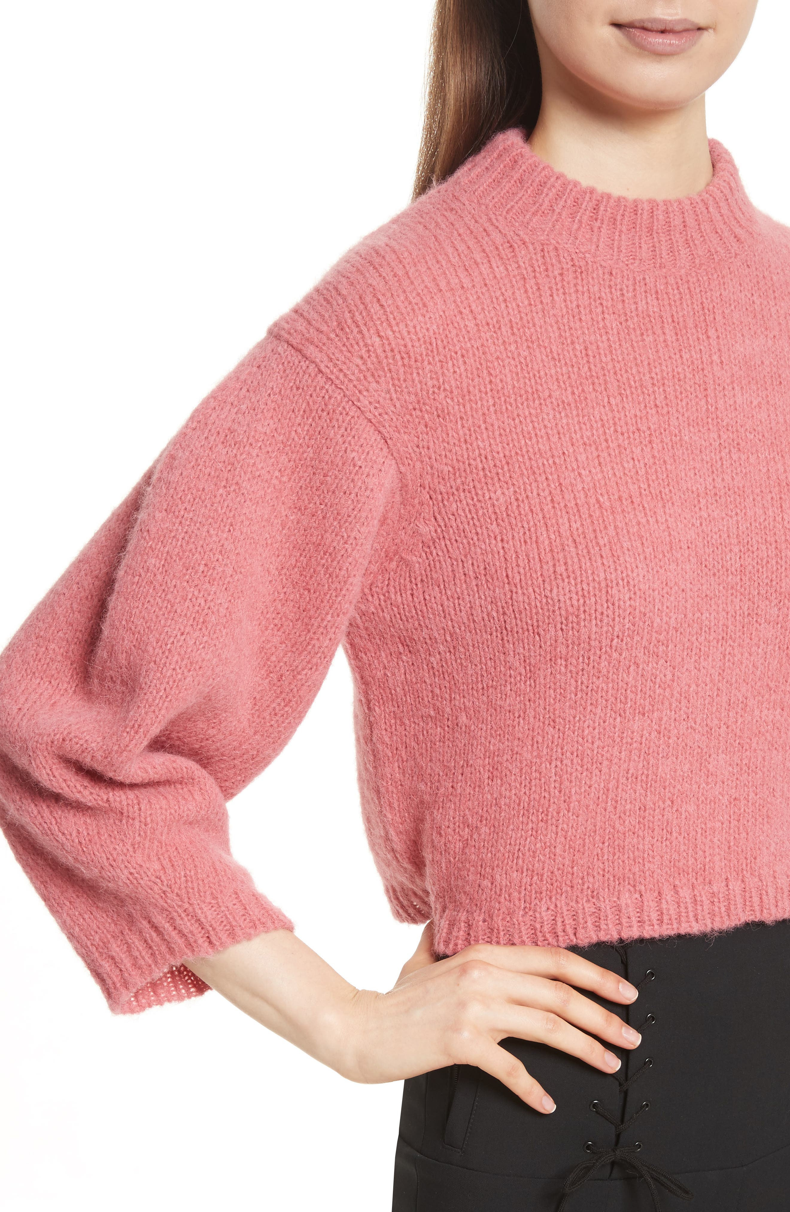Cozette Cropped Pullover,                             Alternate thumbnail 4, color,                             695