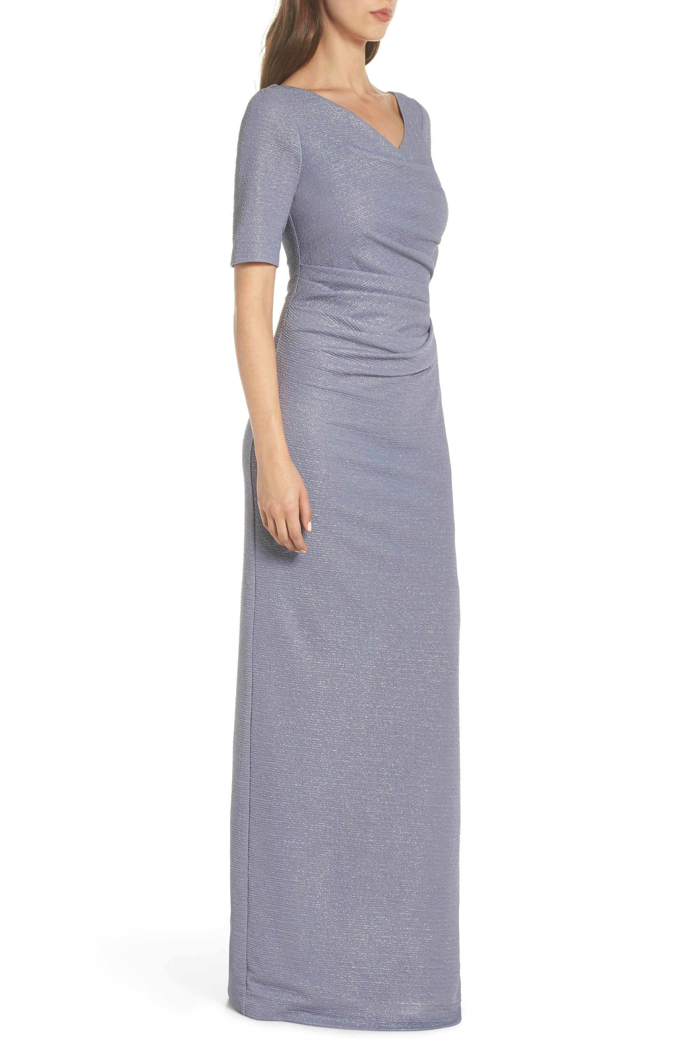 ADRIANNA PAPELL,                             Metallic Gown,                             Alternate thumbnail 3, color,                             028