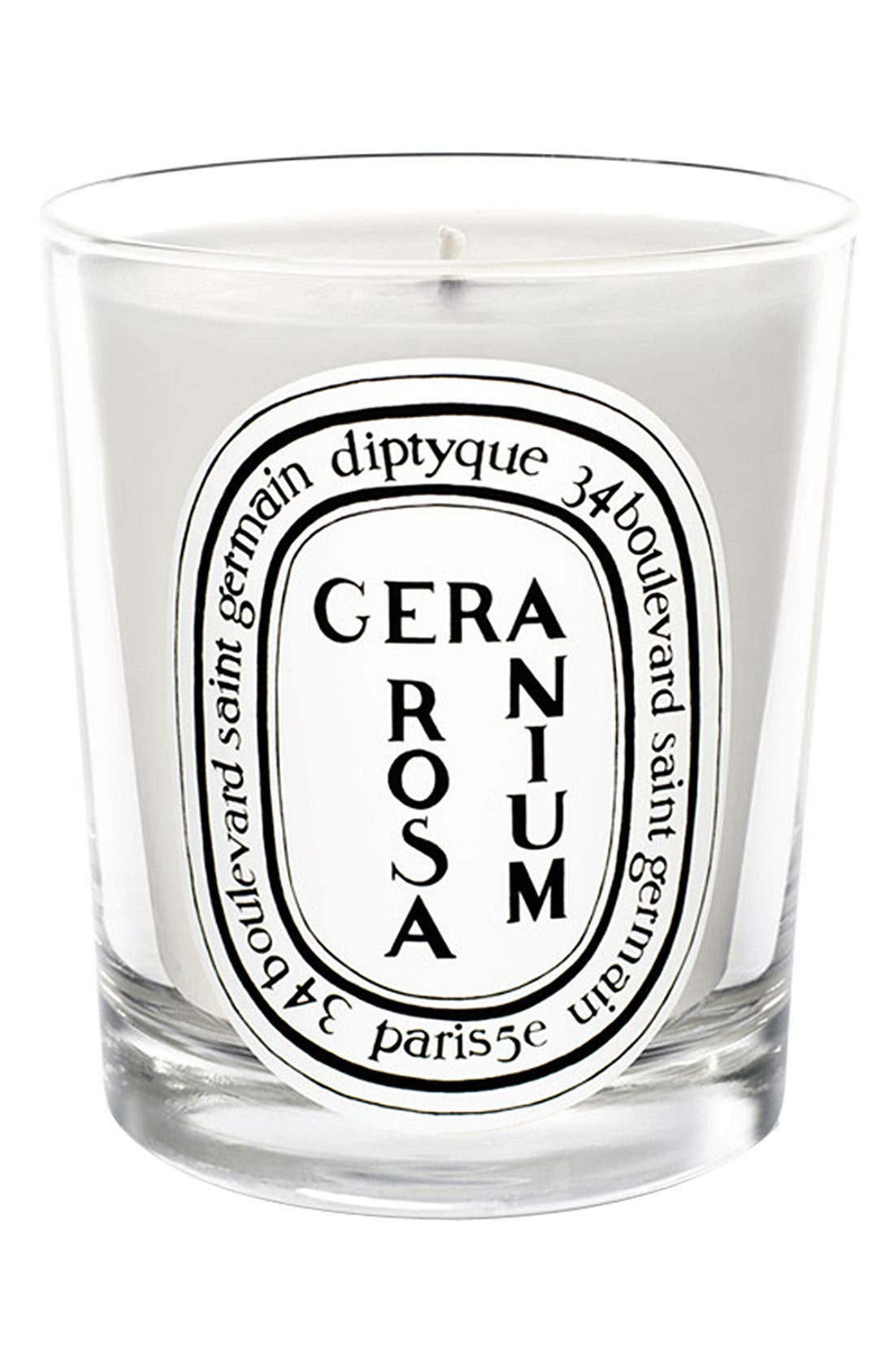 Geranium Rosa/Rose Geranium Scented Candle,                             Main thumbnail 1, color,                             000