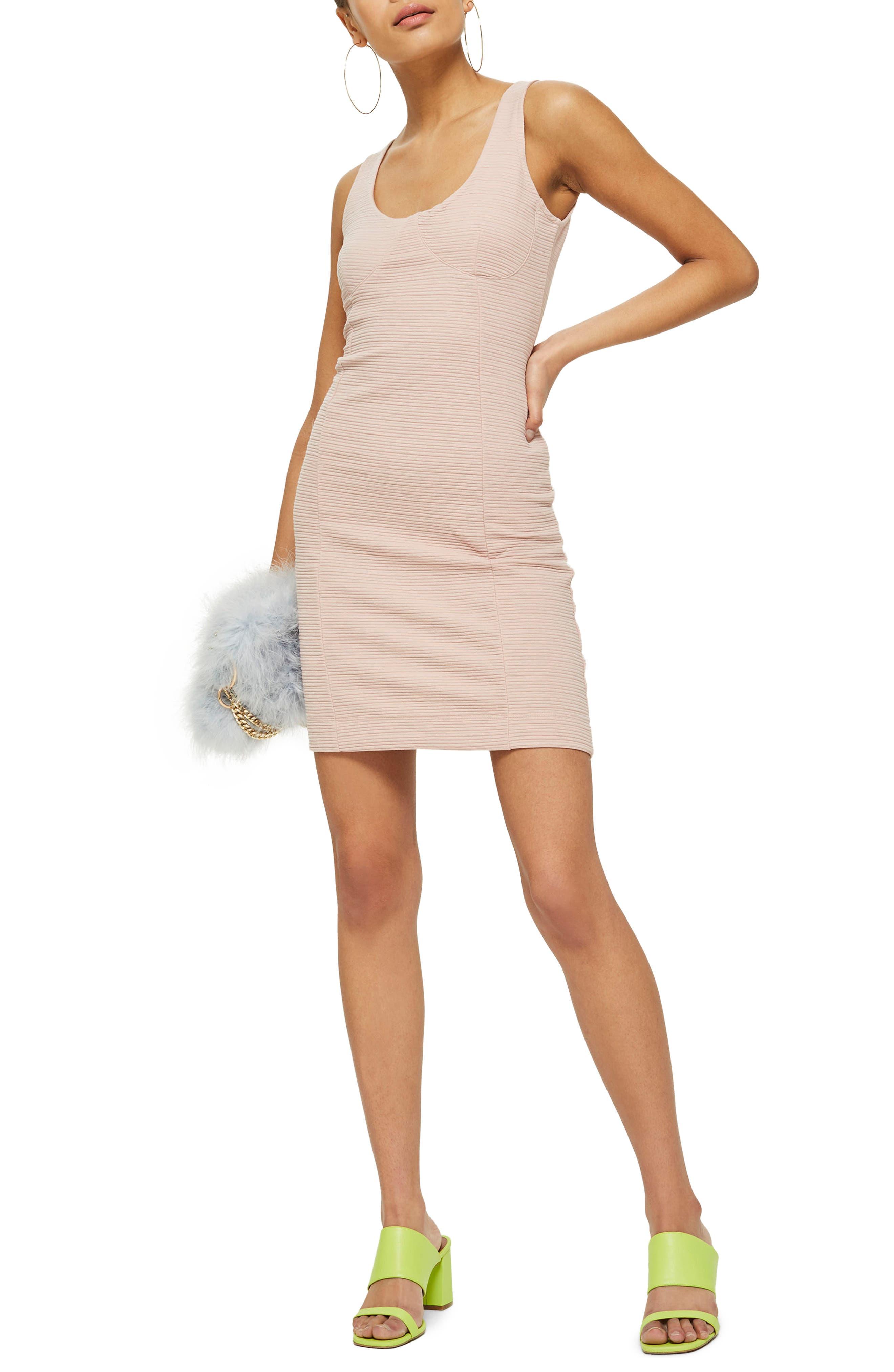 Underbust Rib Body-Con Dress,                             Main thumbnail 2, color,