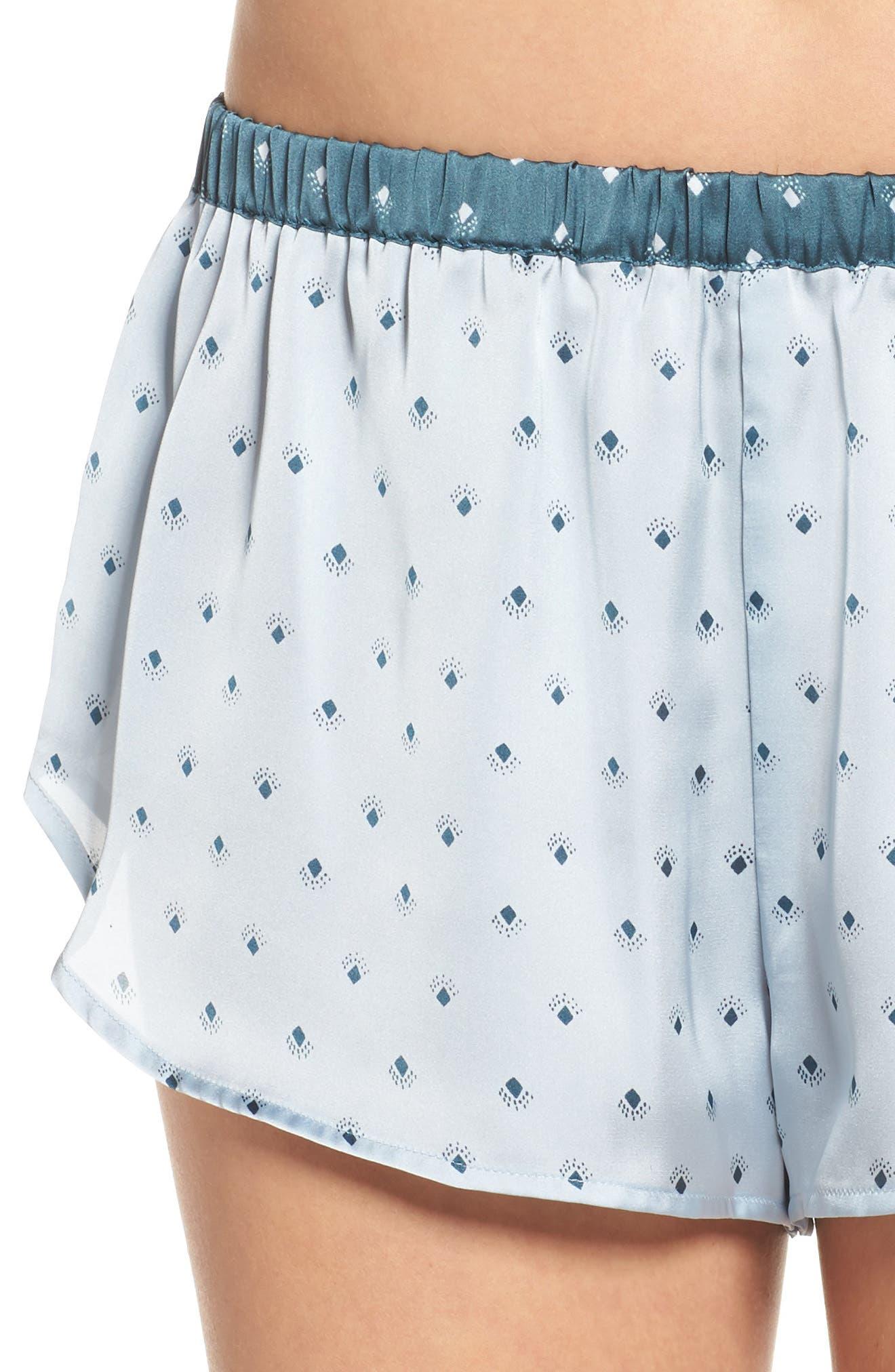 Short Satin Pajamas,                             Alternate thumbnail 11, color,