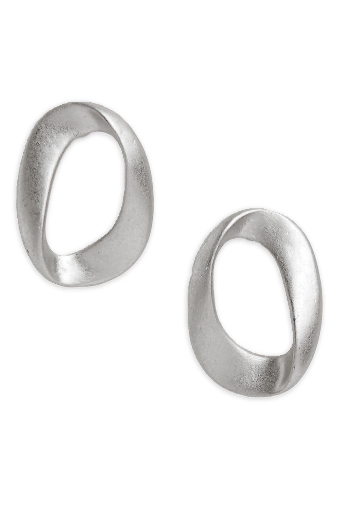 Brushed Loop Stud Earrings,                         Main,                         color, 040