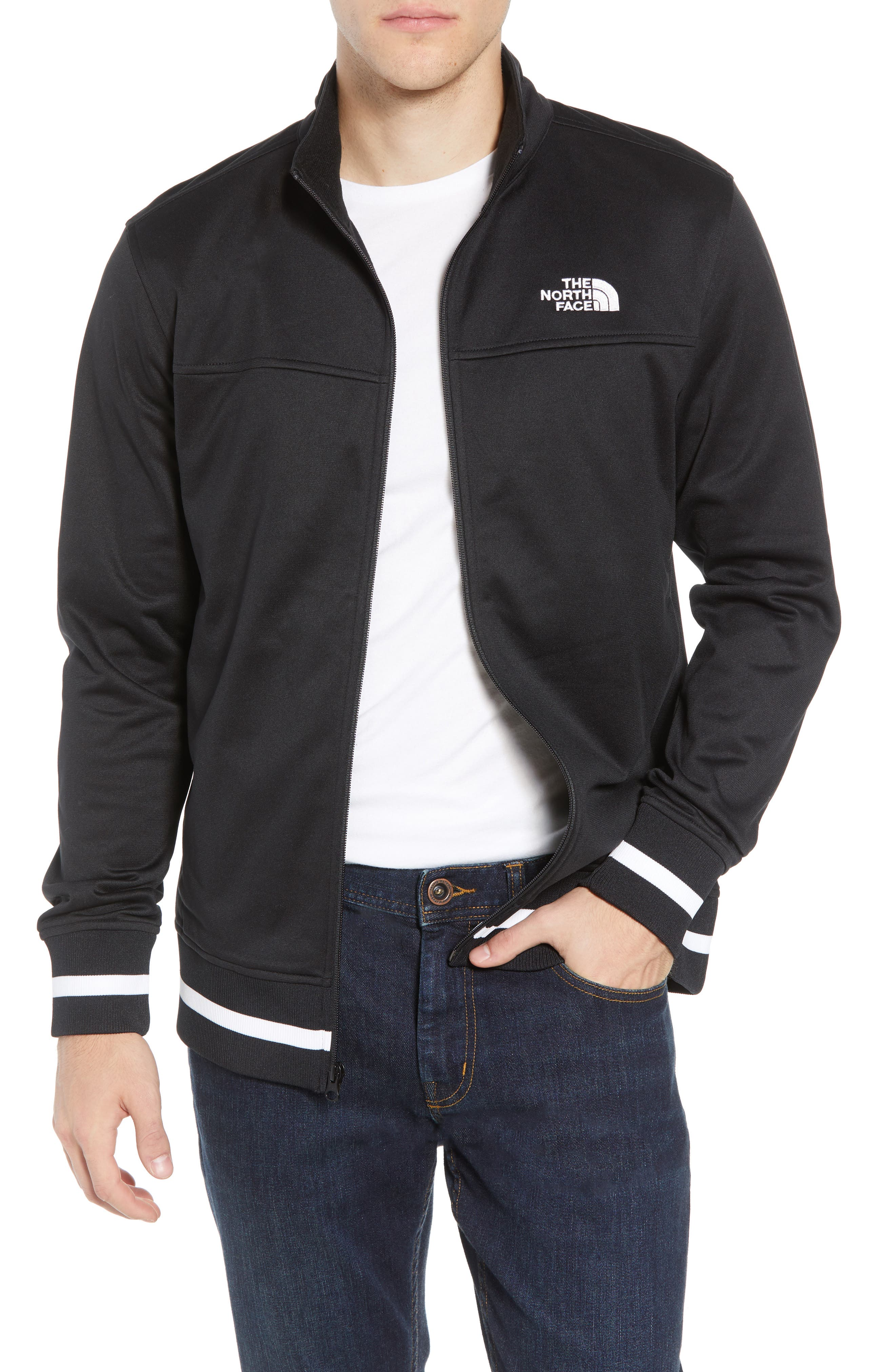 Alphabet City Track Jacket,                         Main,                         color, TNF BLACK