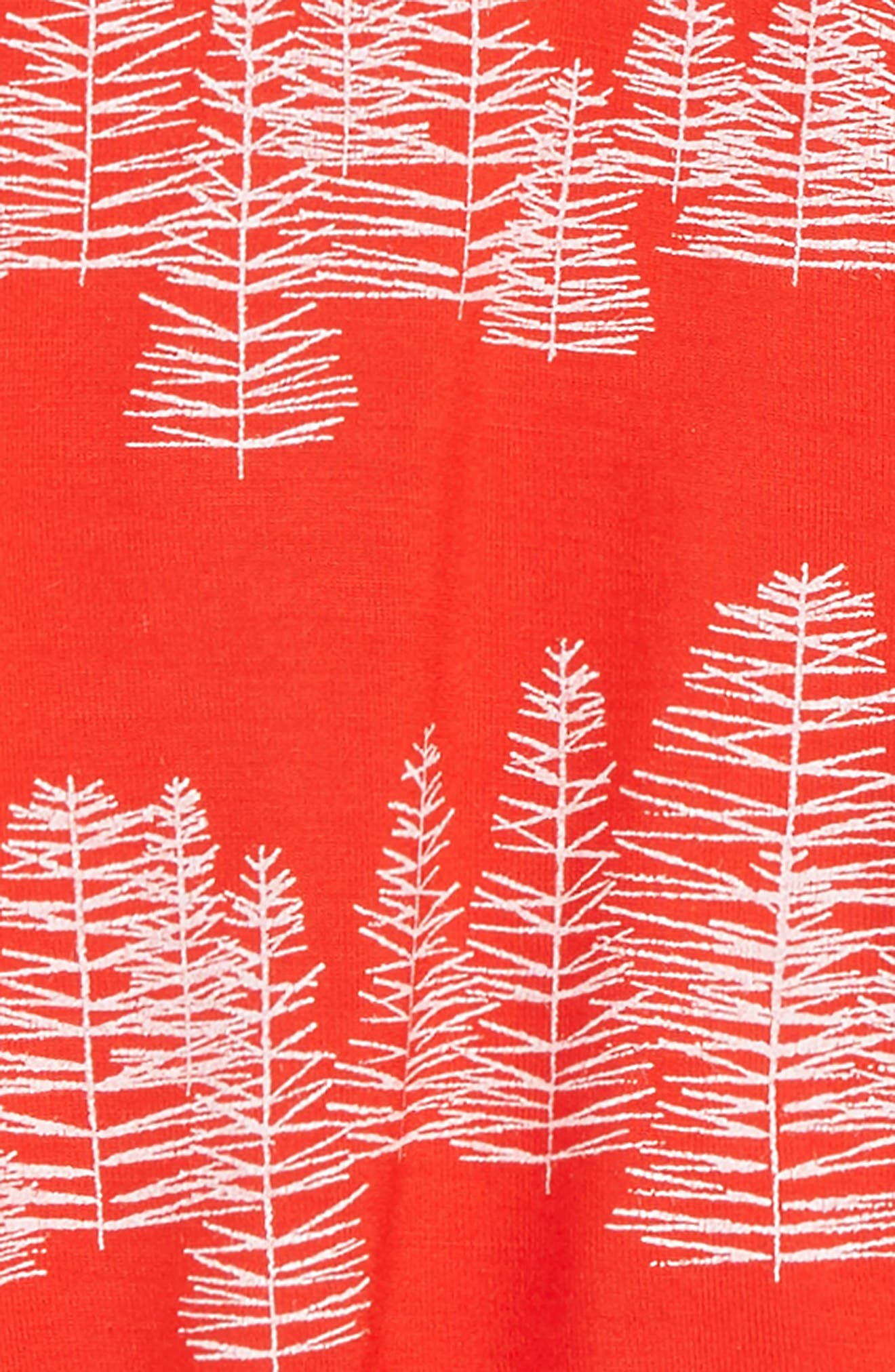 Red Tree Footie,                             Alternate thumbnail 2, color,                             RED