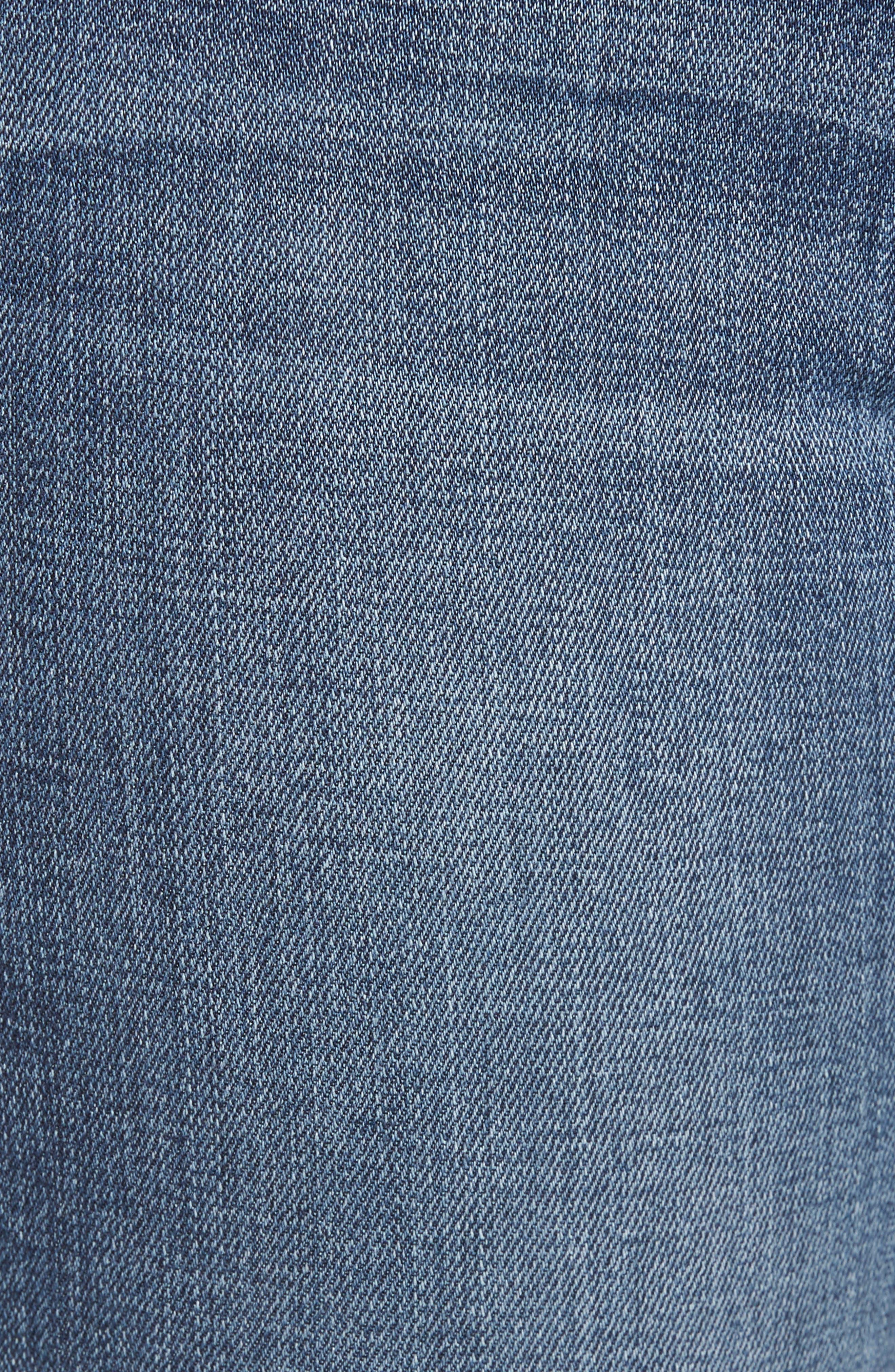 Good Legs High Rise Split Hem Crop Skinny Jeans,                             Alternate thumbnail 5, color,                             401
