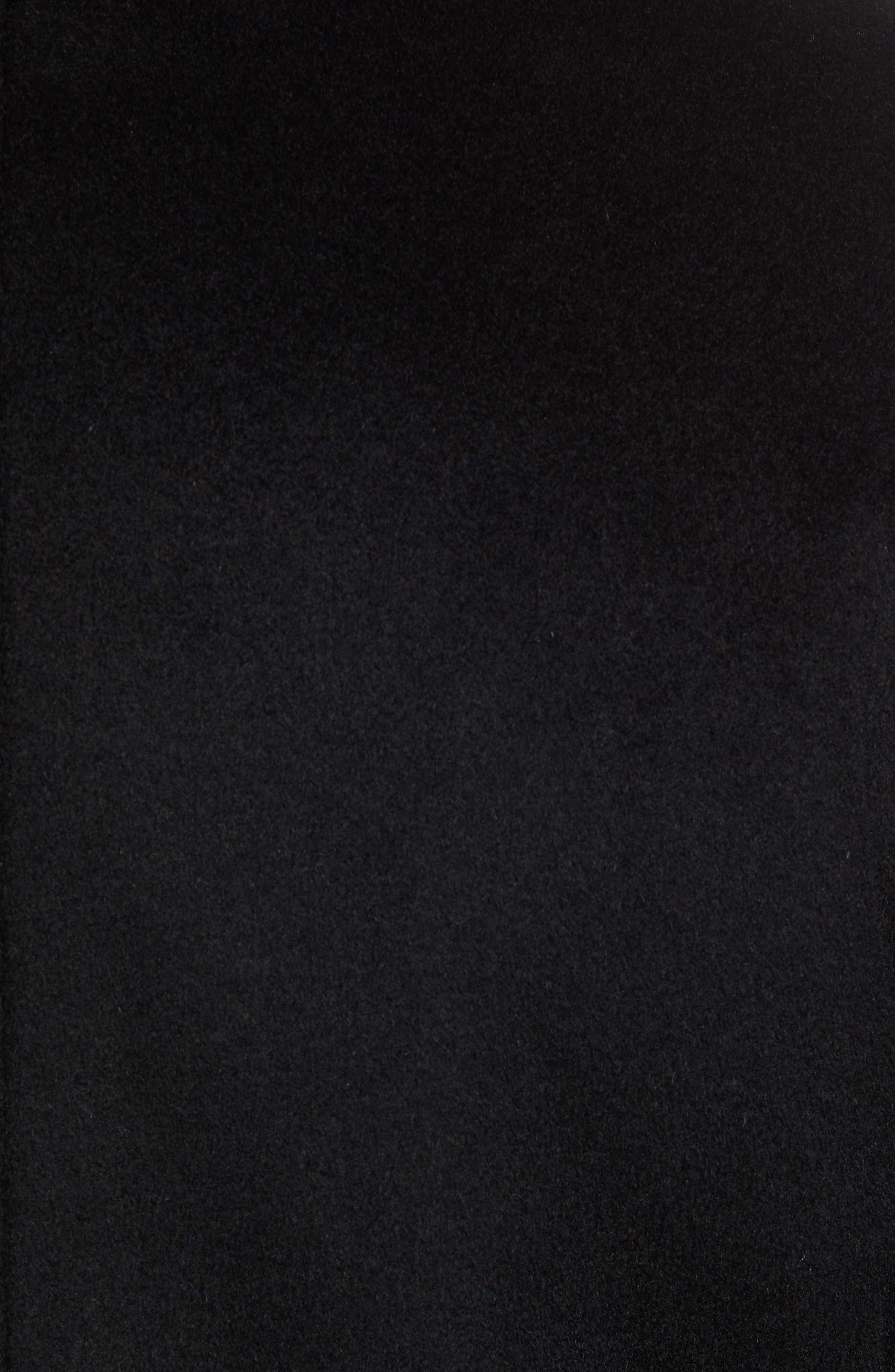 Hudson Wool Car Coat,                             Alternate thumbnail 7, color,                             BLACK
