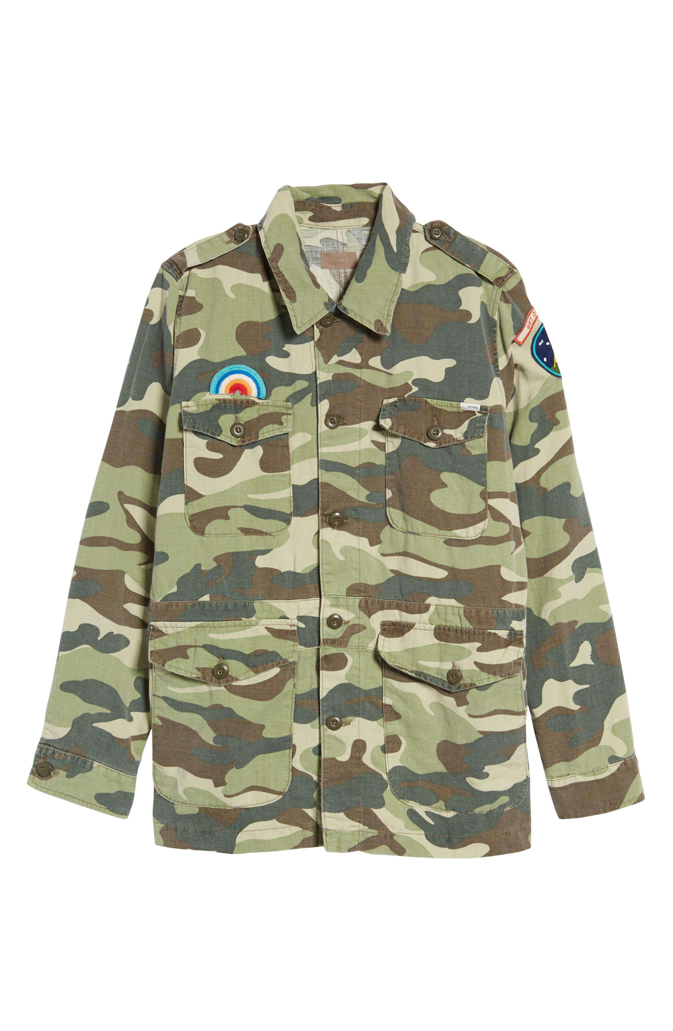 The Loose Veteran Camo Jacket,                             Alternate thumbnail 6, color,                             315