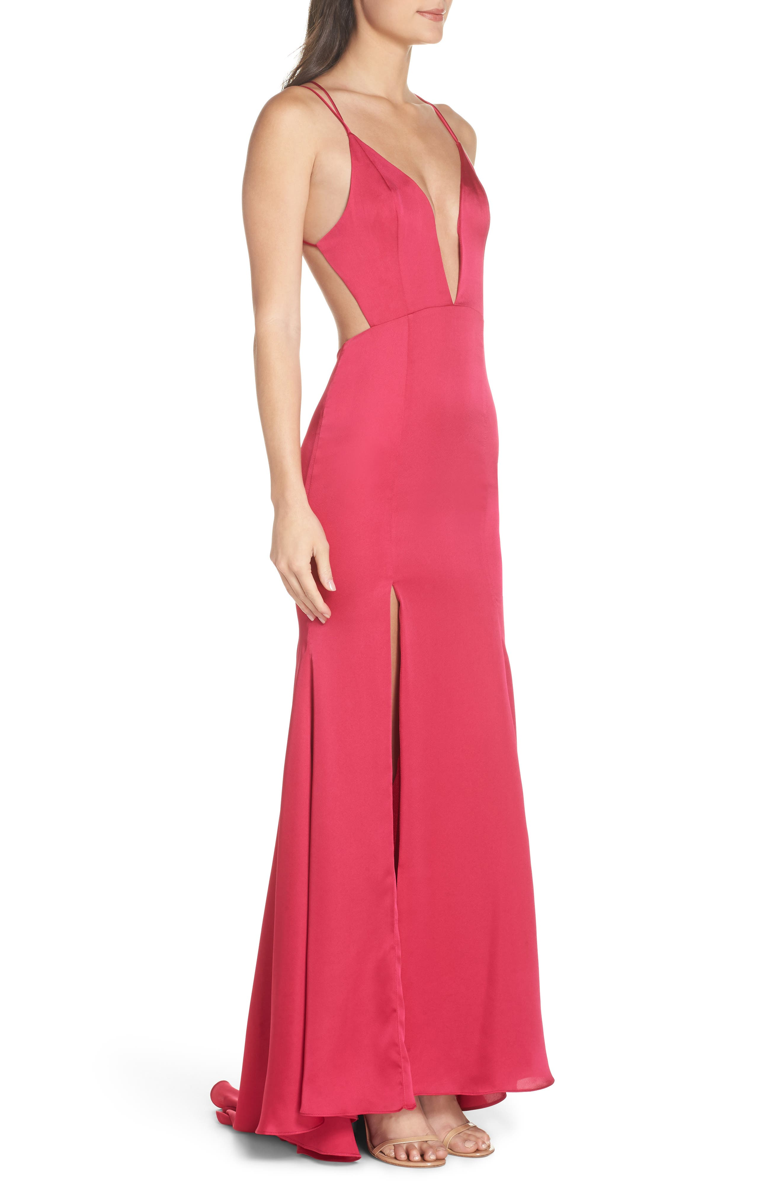 FAME AND PARTNERS,                             The Thora Satin Gown,                             Alternate thumbnail 3, color,                             654