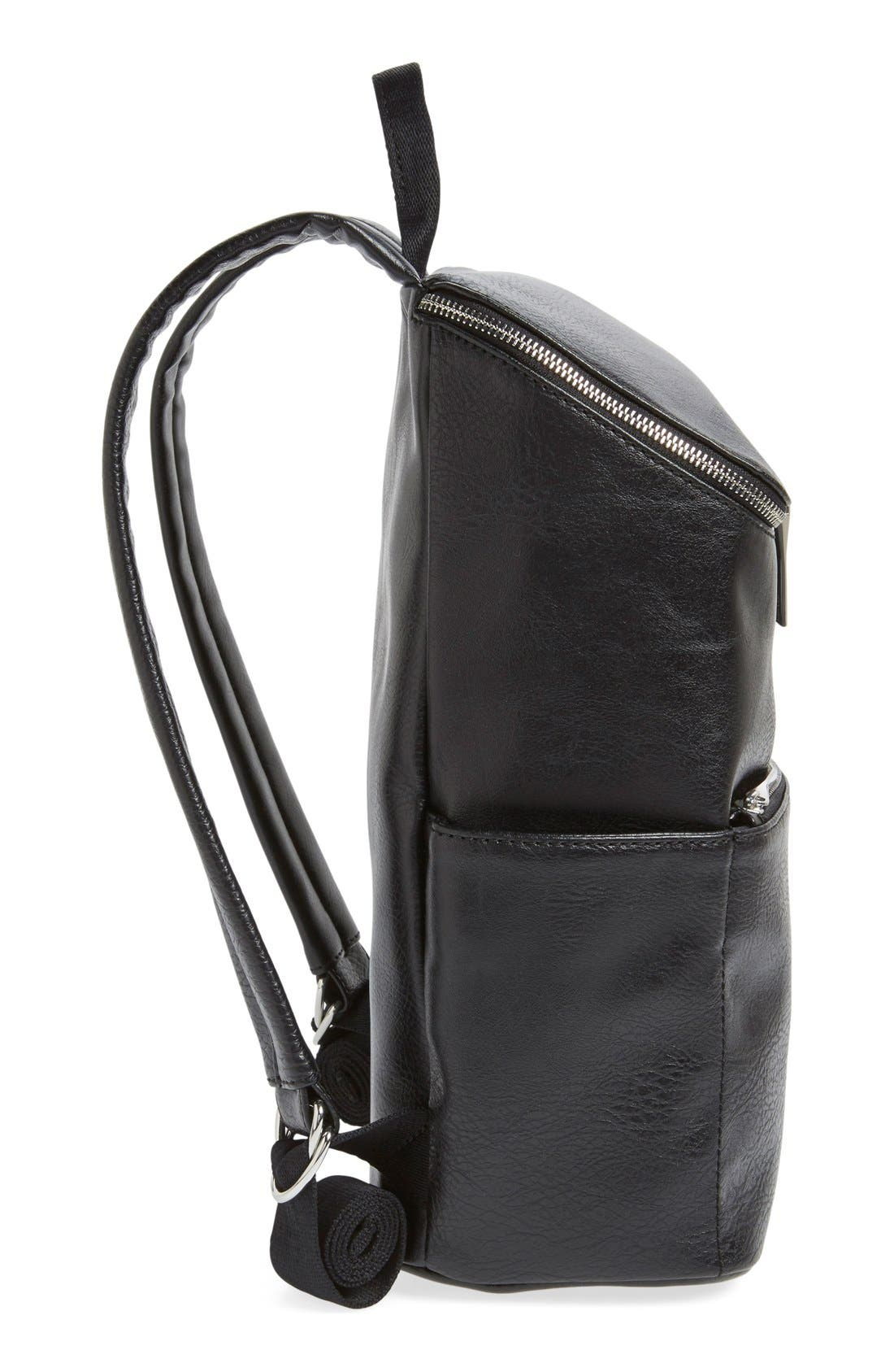 'Brave' Faux Leather Backpack,                             Alternate thumbnail 64, color,