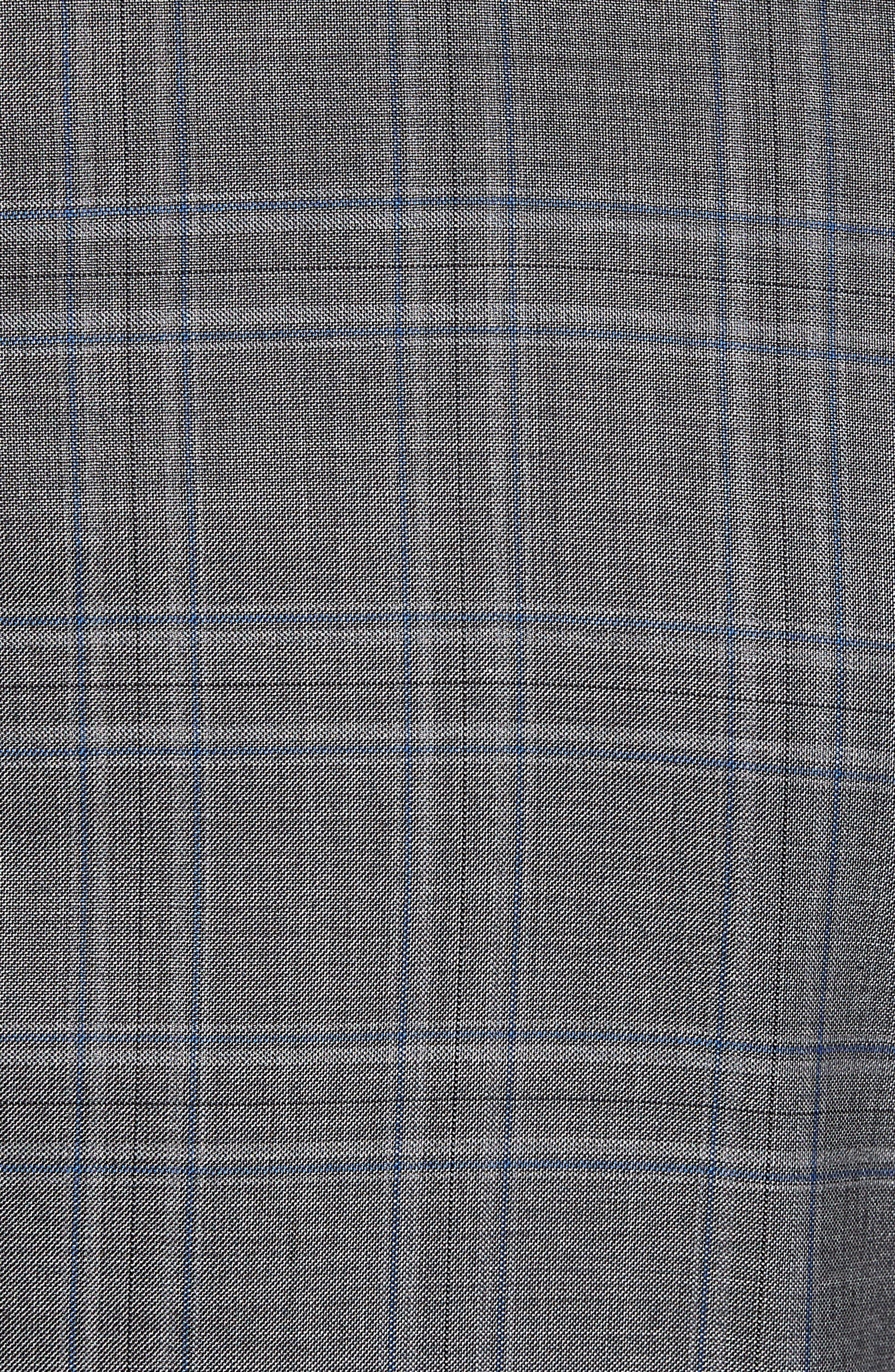 Classic B Fit Plaid Wool Suit,                             Alternate thumbnail 7, color,                             060