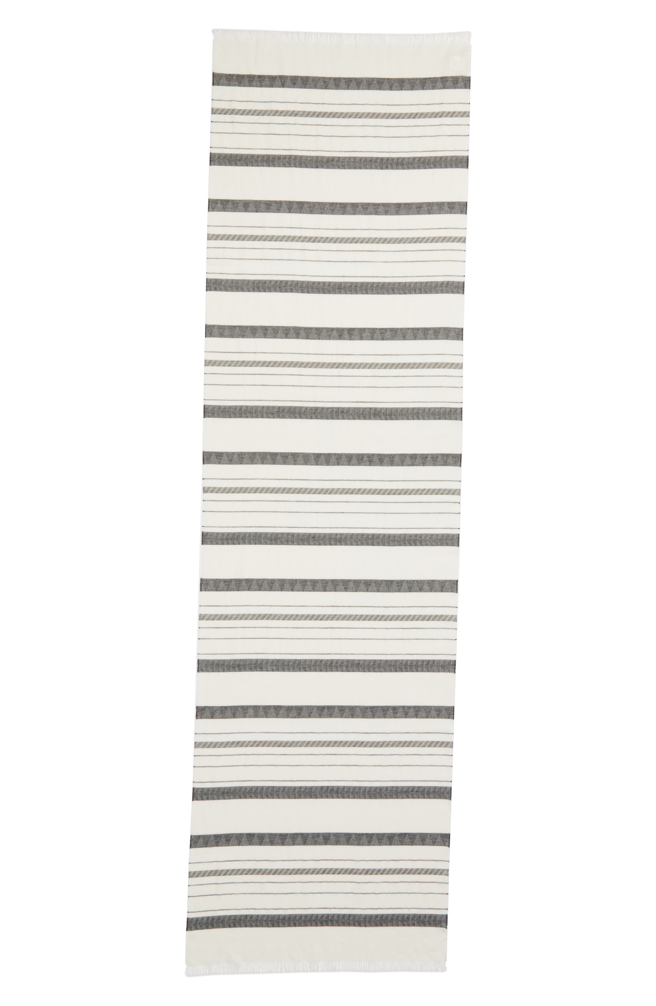 Stripe Organic Cotton & Linen Scarf,                             Alternate thumbnail 3, color,