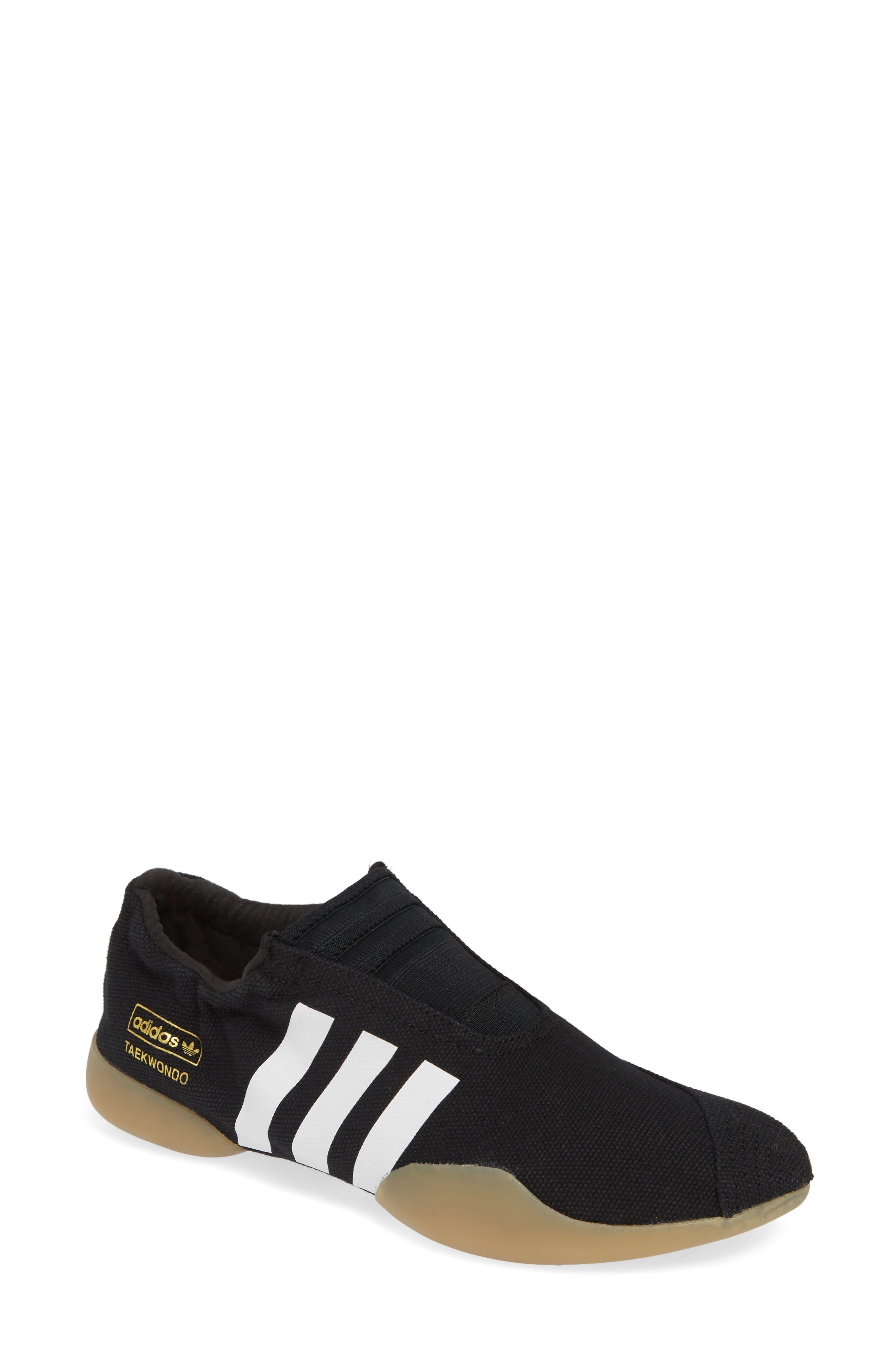 Taekwondo Slip-On Sneaker,                             Main thumbnail 1, color,                             CORE BLACK/ WHITE/ GUM 3