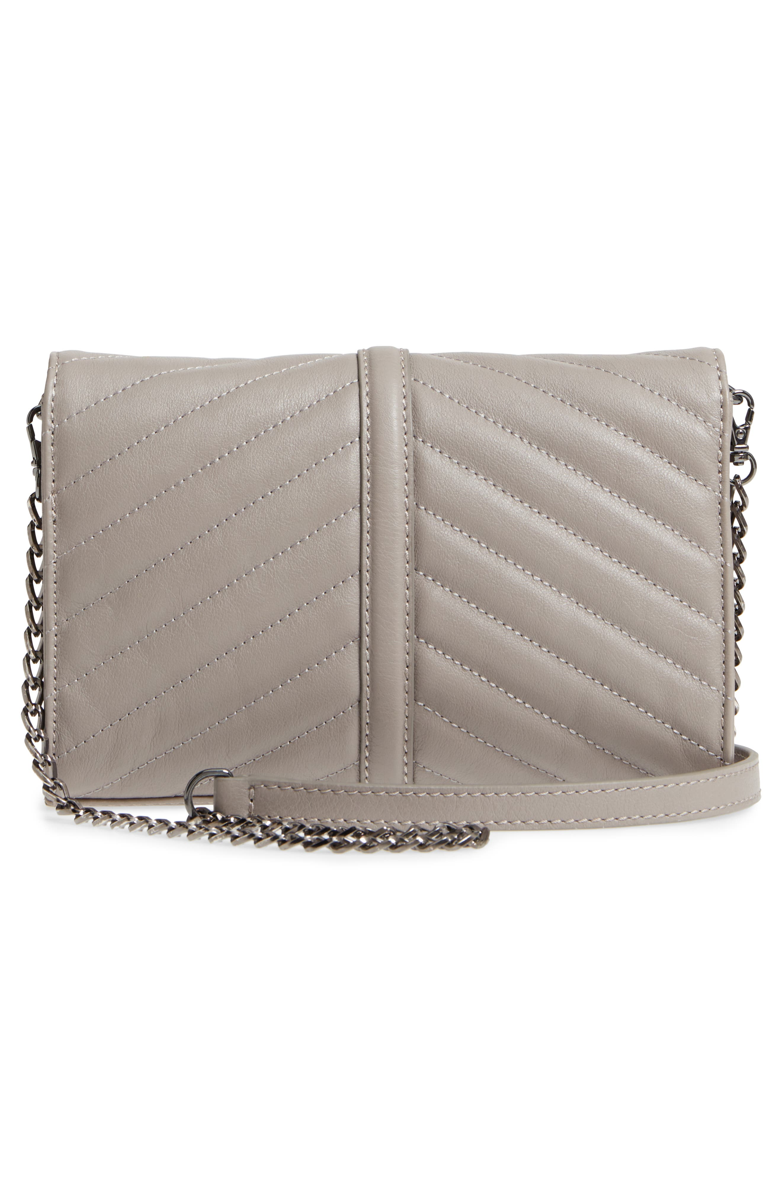 Dakota Quilted Leather Clutch,                             Alternate thumbnail 3, color,                             020