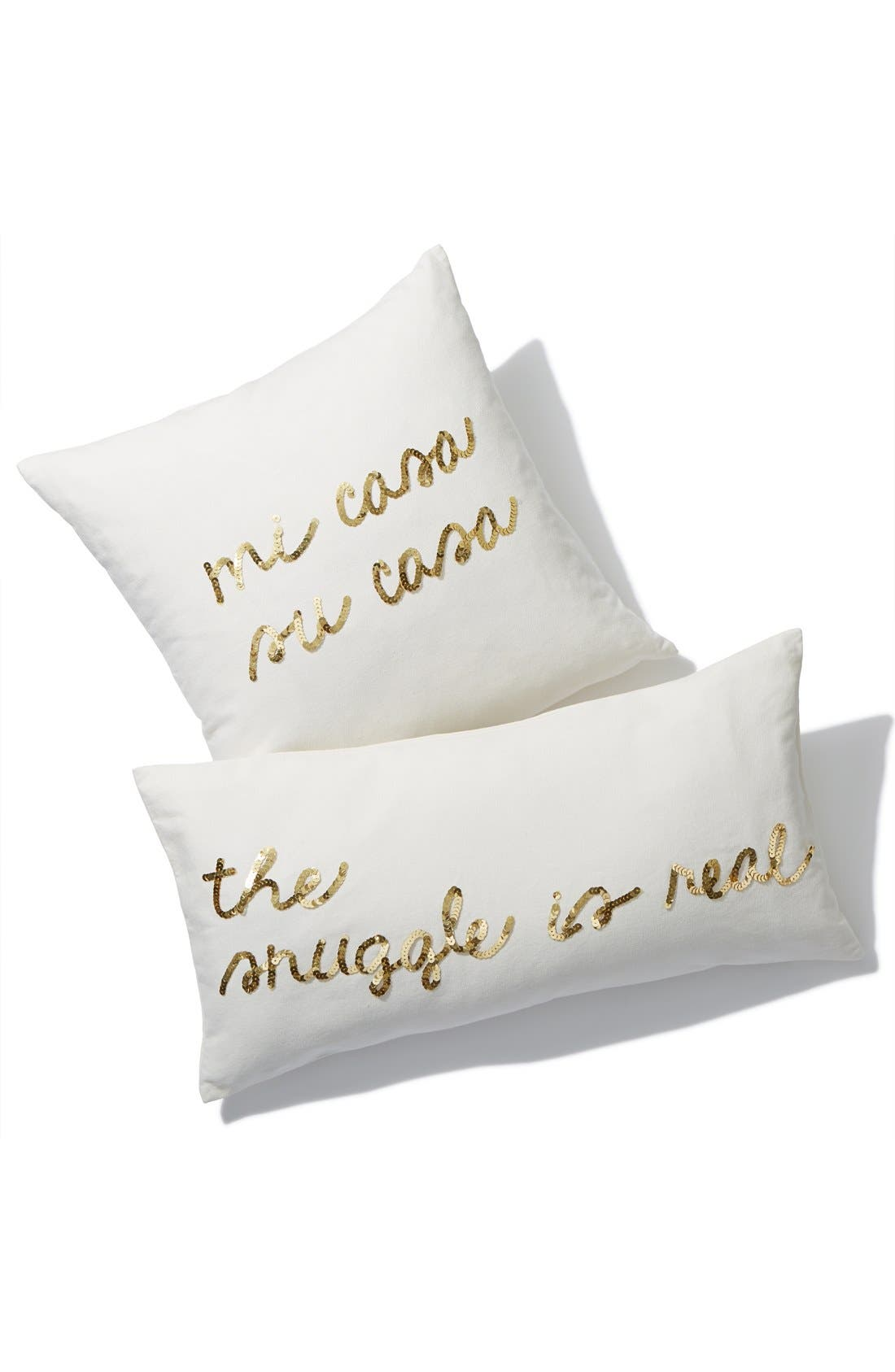 BOW & DRAPE,                             'Mi Casa, Su Casa' Pillow,                             Alternate thumbnail 3, color,                             900