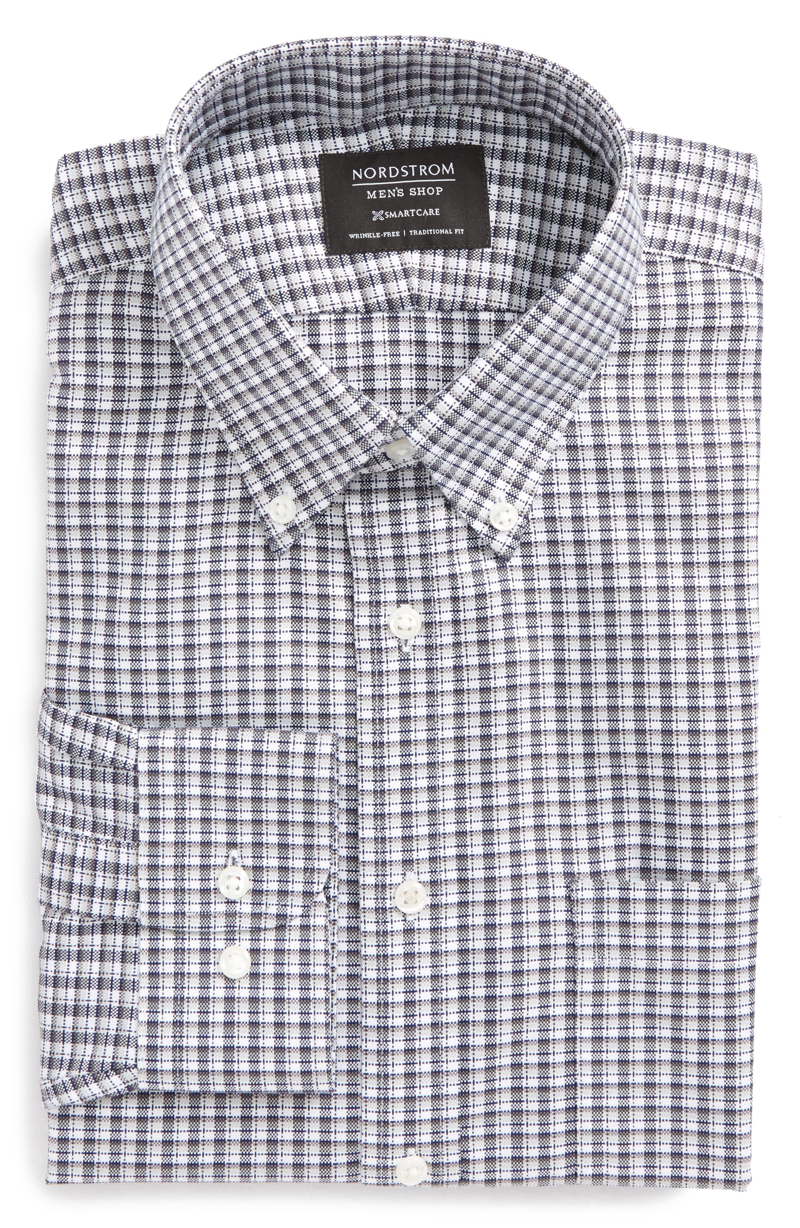 Smartcare<sup>®</sup> Traditional Fit Check Dress Shirt,                         Main,                         color, 021