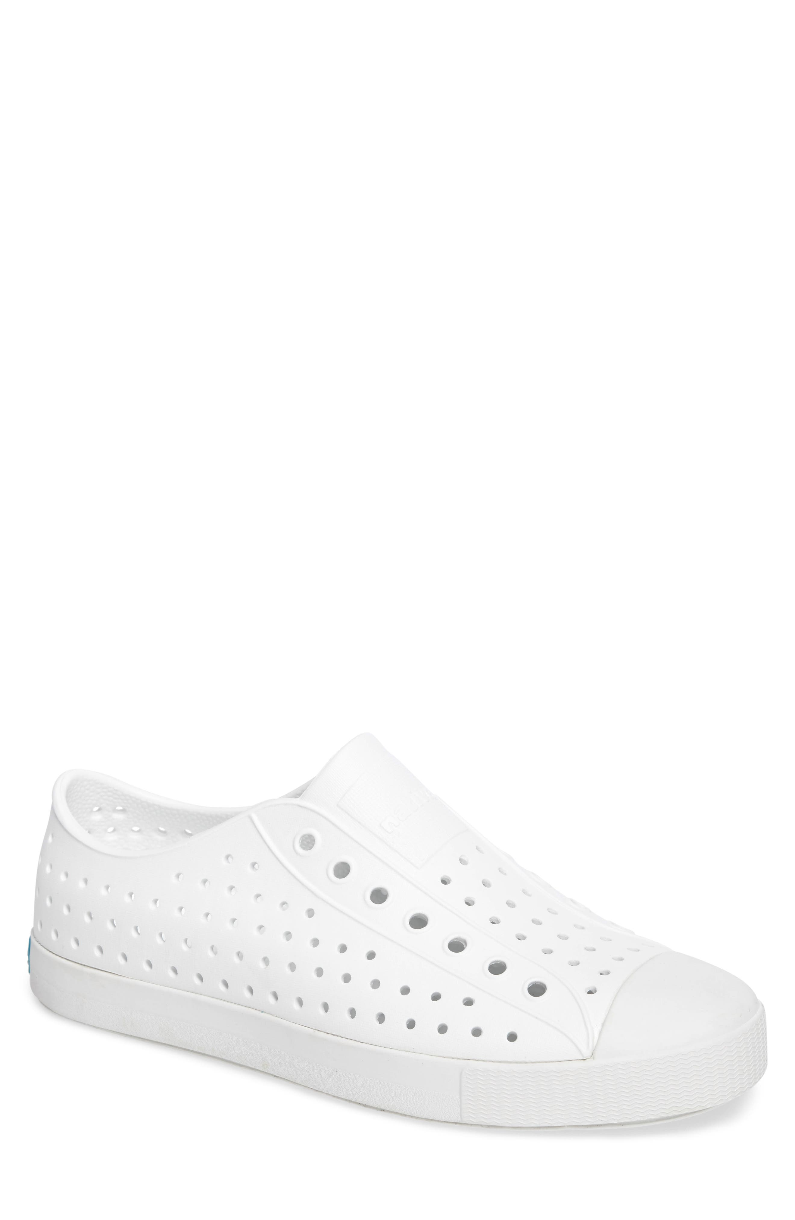 'Jefferson' Slip-On,                             Main thumbnail 1, color,                             SHELL WHITE SOLID