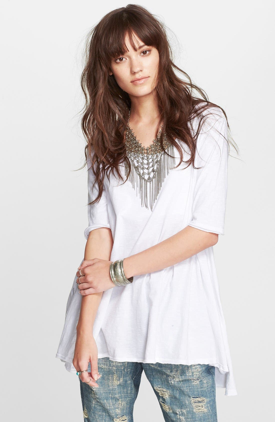 FREE PEOPLE,                             'Melrose' Tee,                             Main thumbnail 1, color,                             100
