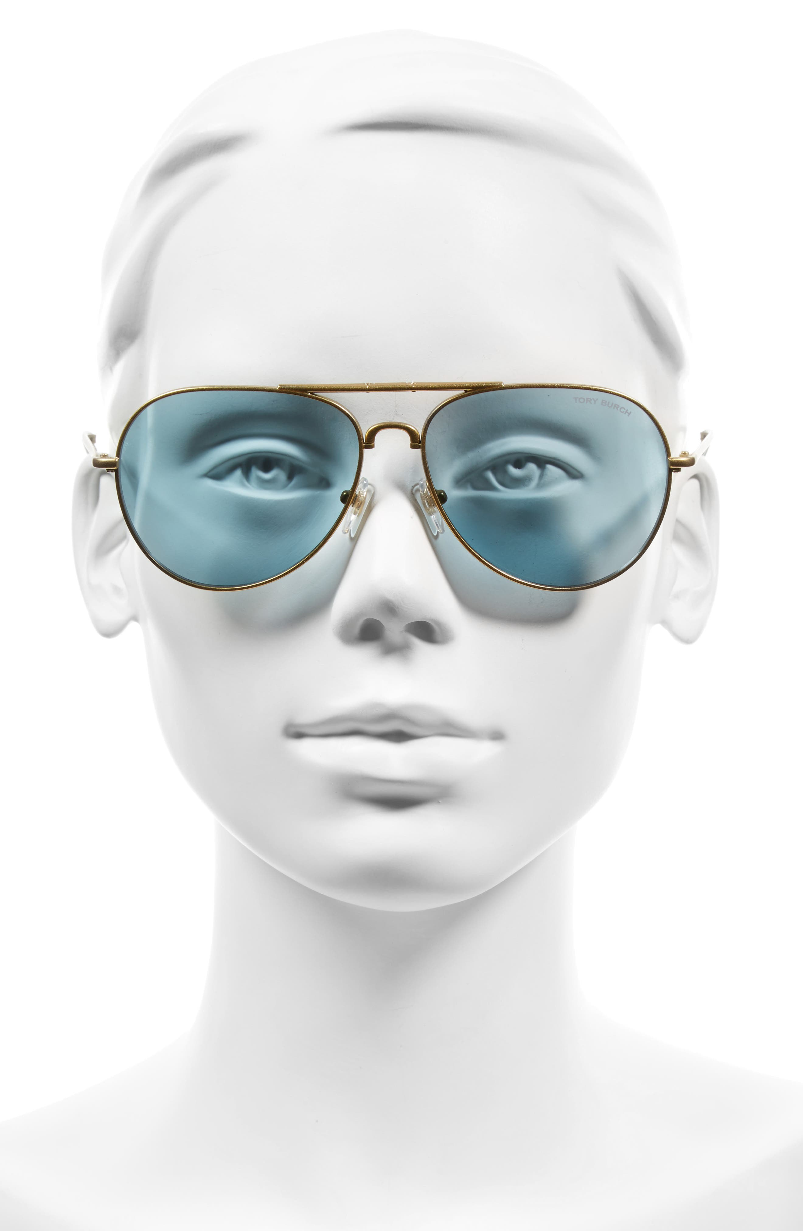 58mm Foldable Aviator Sunglasses,                             Alternate thumbnail 2, color,                             710