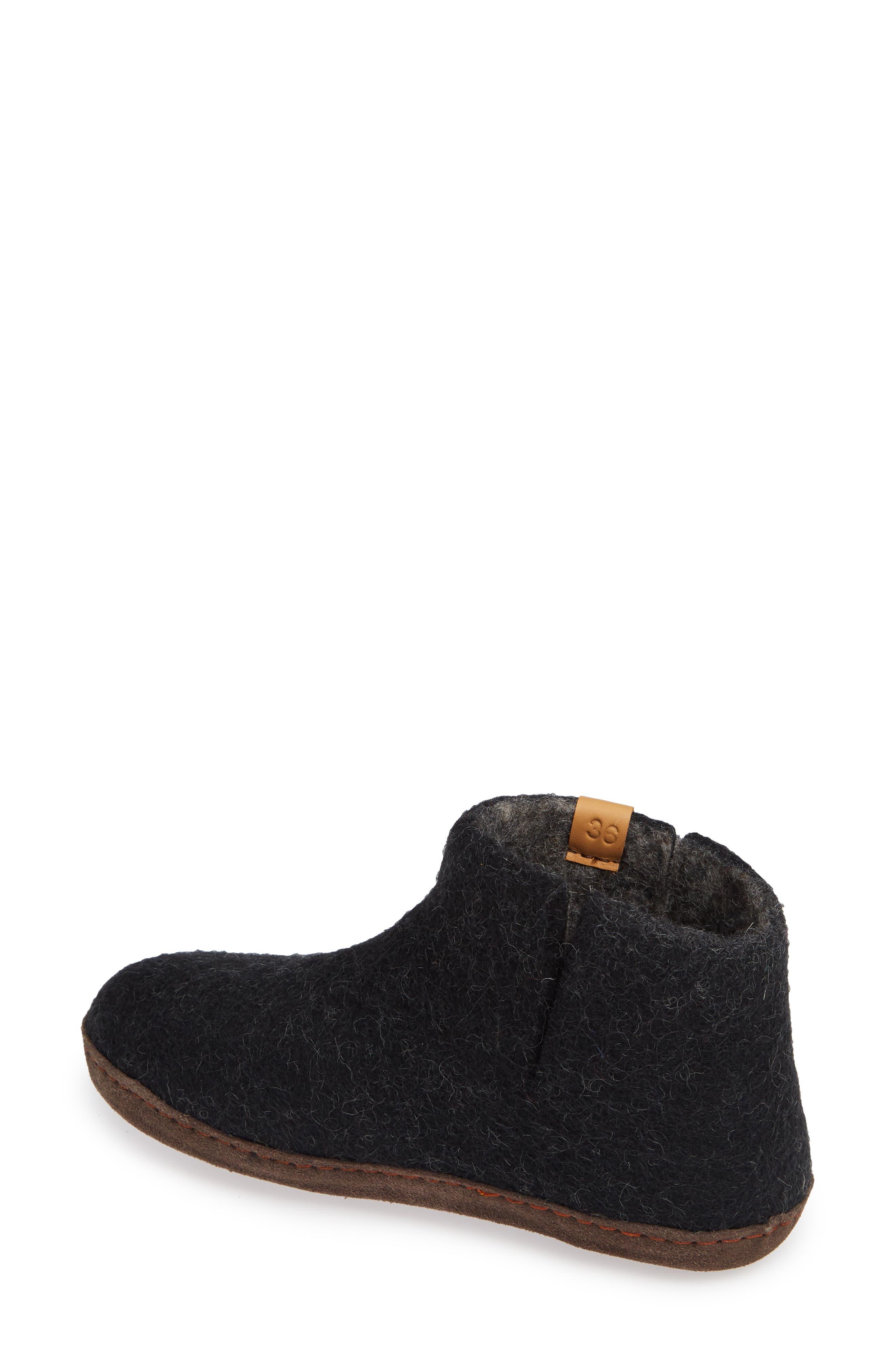 Everest Wool Slipper,                             Alternate thumbnail 2, color,                             BLACK WOOL