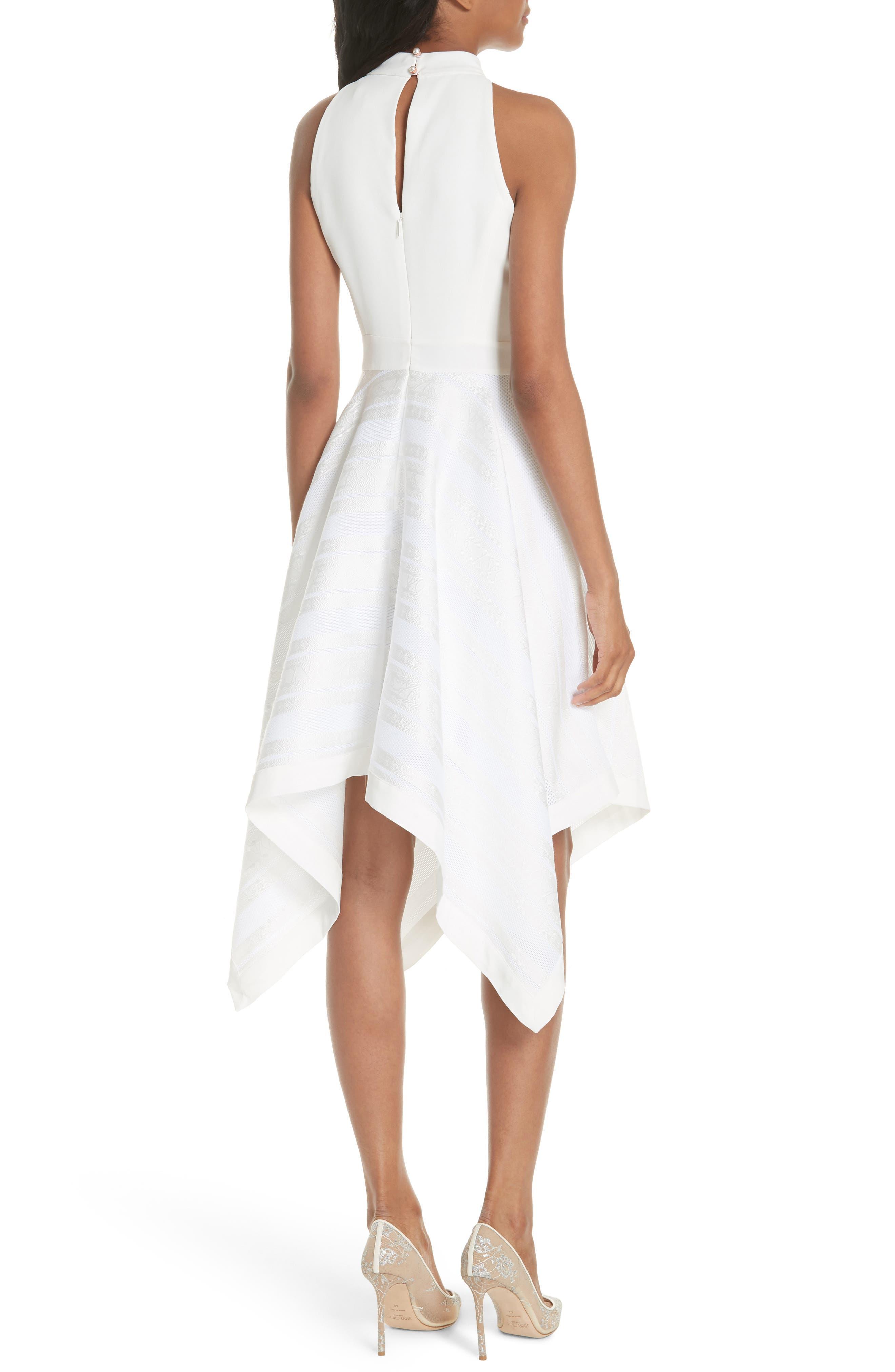 Draped Fit & Flare Dress,                             Alternate thumbnail 2, color,                             110
