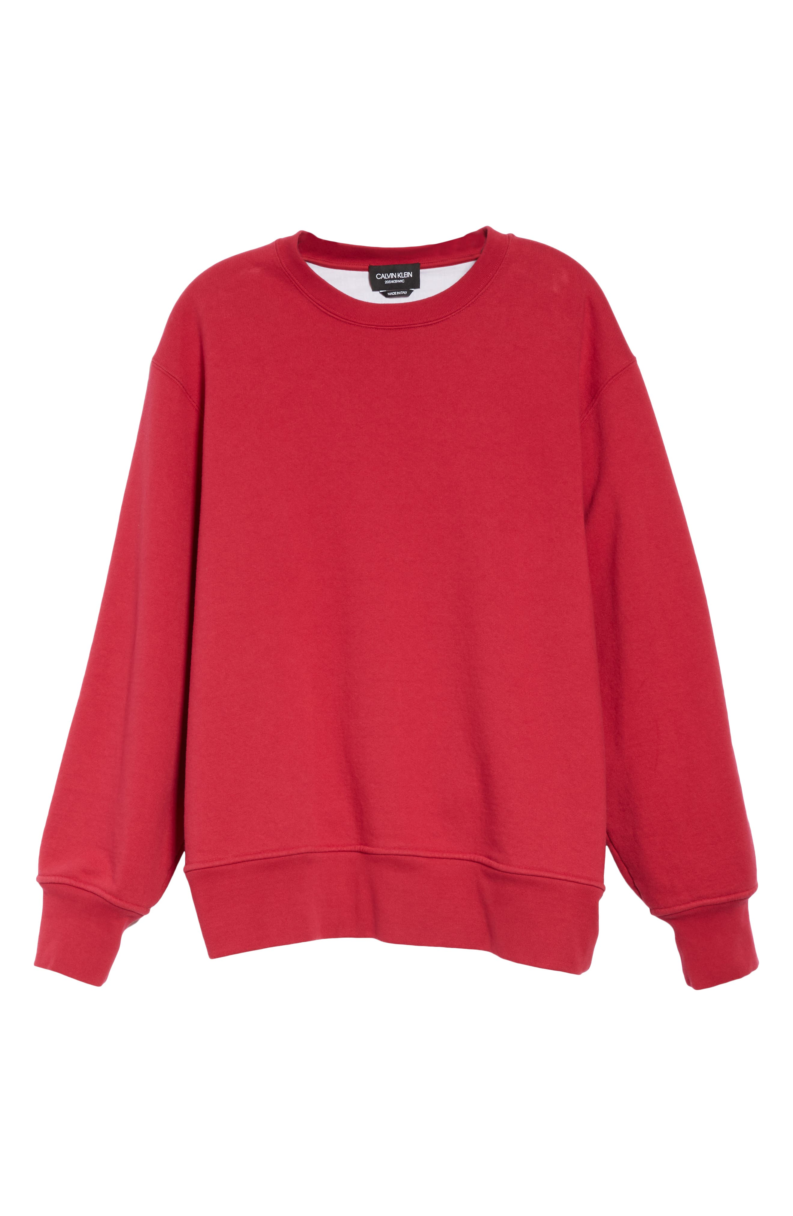 Crewneck Sweatshirt,                             Alternate thumbnail 6, color,                             CHERRY