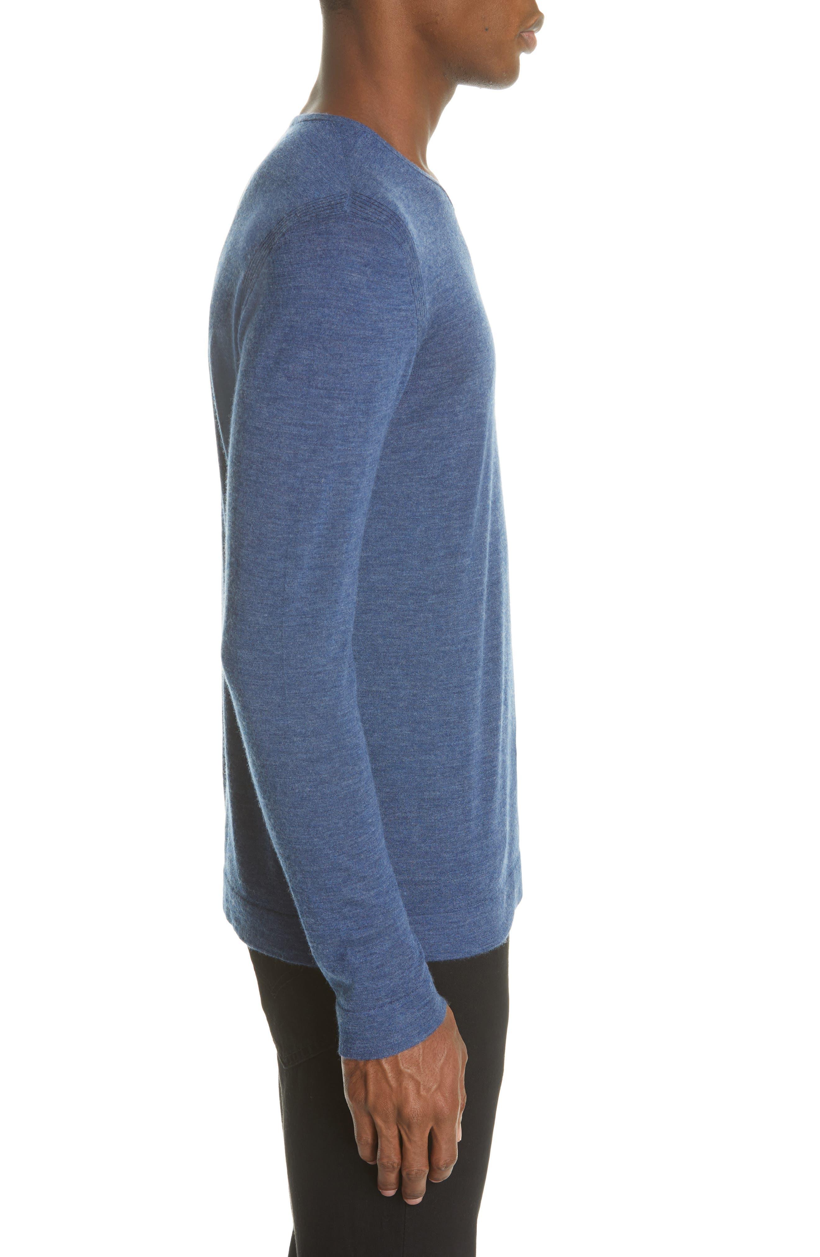 Cashmere Crewneck Sweater,                             Alternate thumbnail 3, color,                             SAPPHIRE