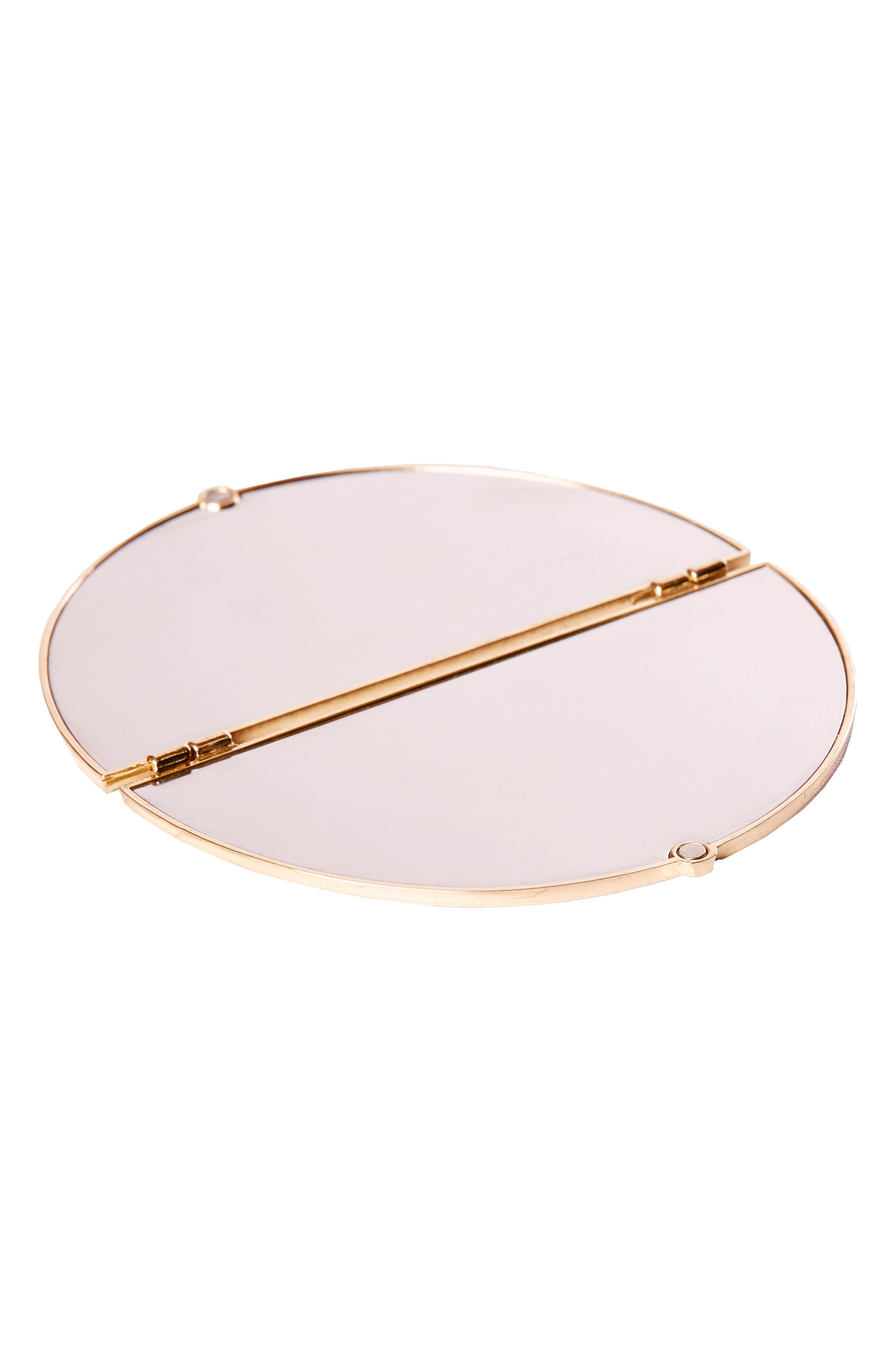 Skinny Dip Compact Mirror,                             Alternate thumbnail 3, color,                             NO COLOR