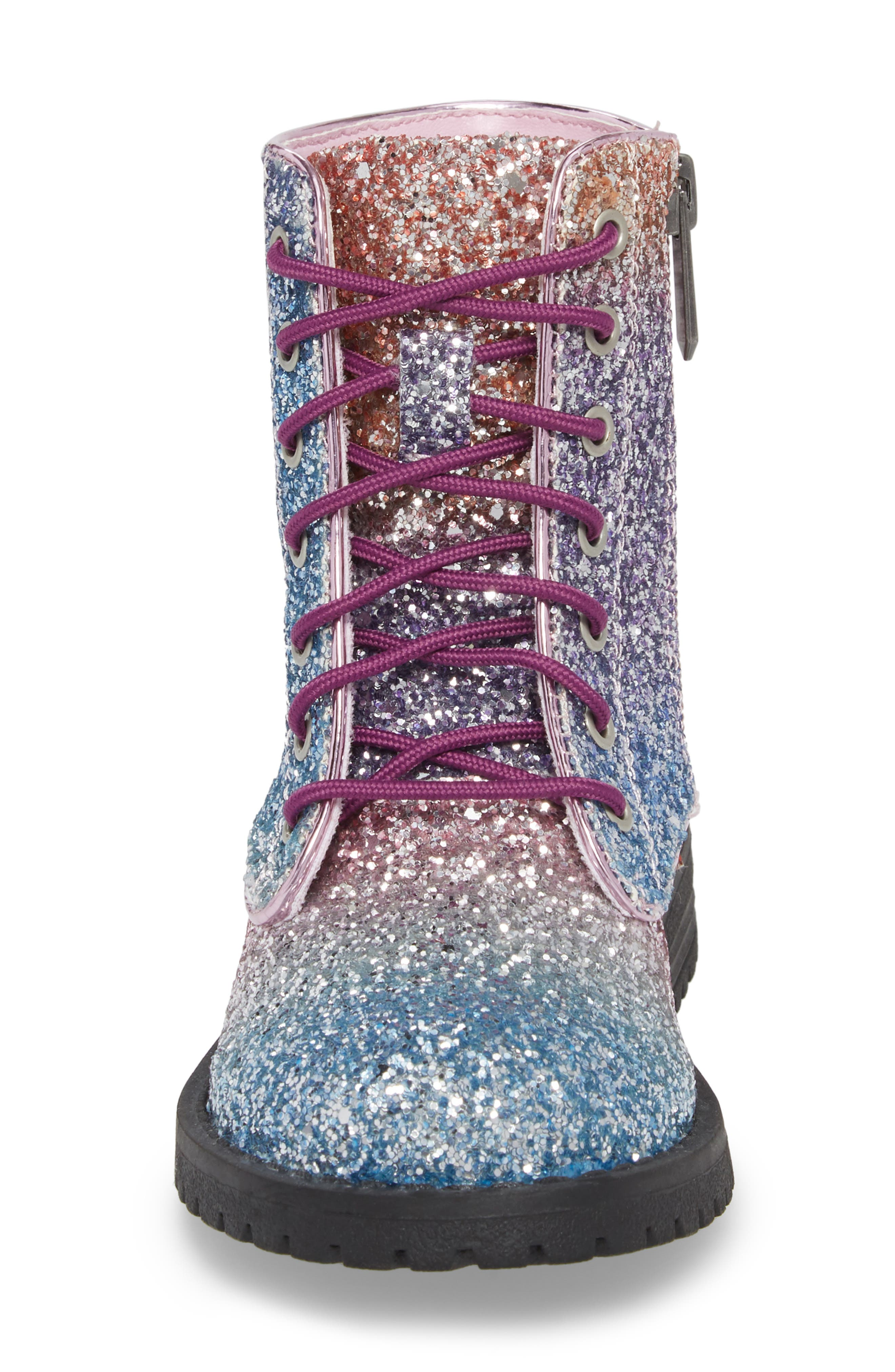 SAM EDELMAN,                             Polly Sophia Glitter Combat Boot,                             Alternate thumbnail 4, color,                             506