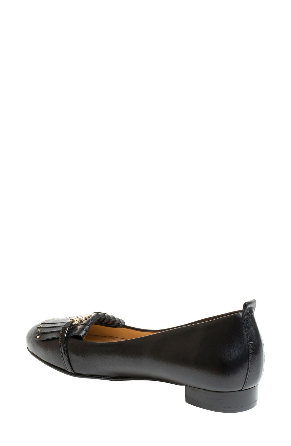 Leona Kiltie Loafer,                             Alternate thumbnail 3, color,                             001
