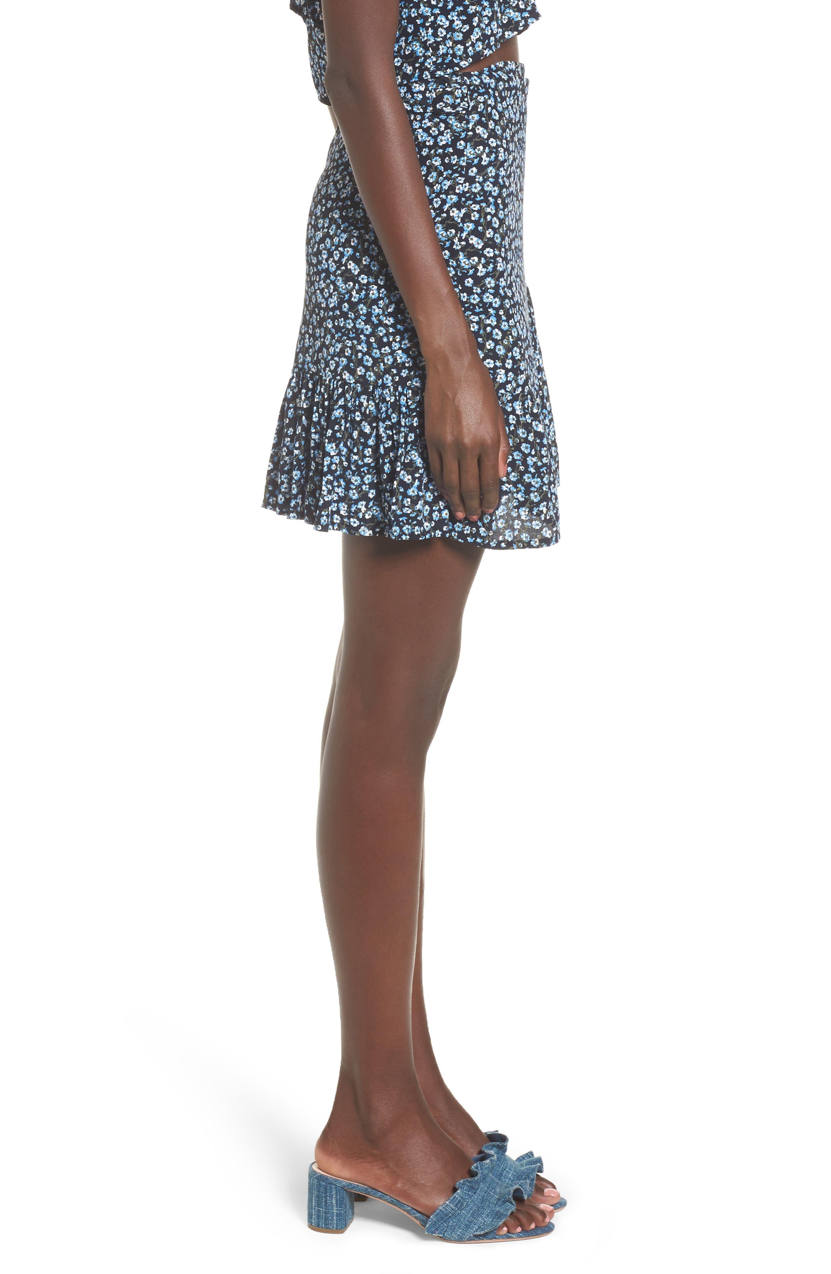 Gilda Floral Skirt,                             Alternate thumbnail 3, color,
