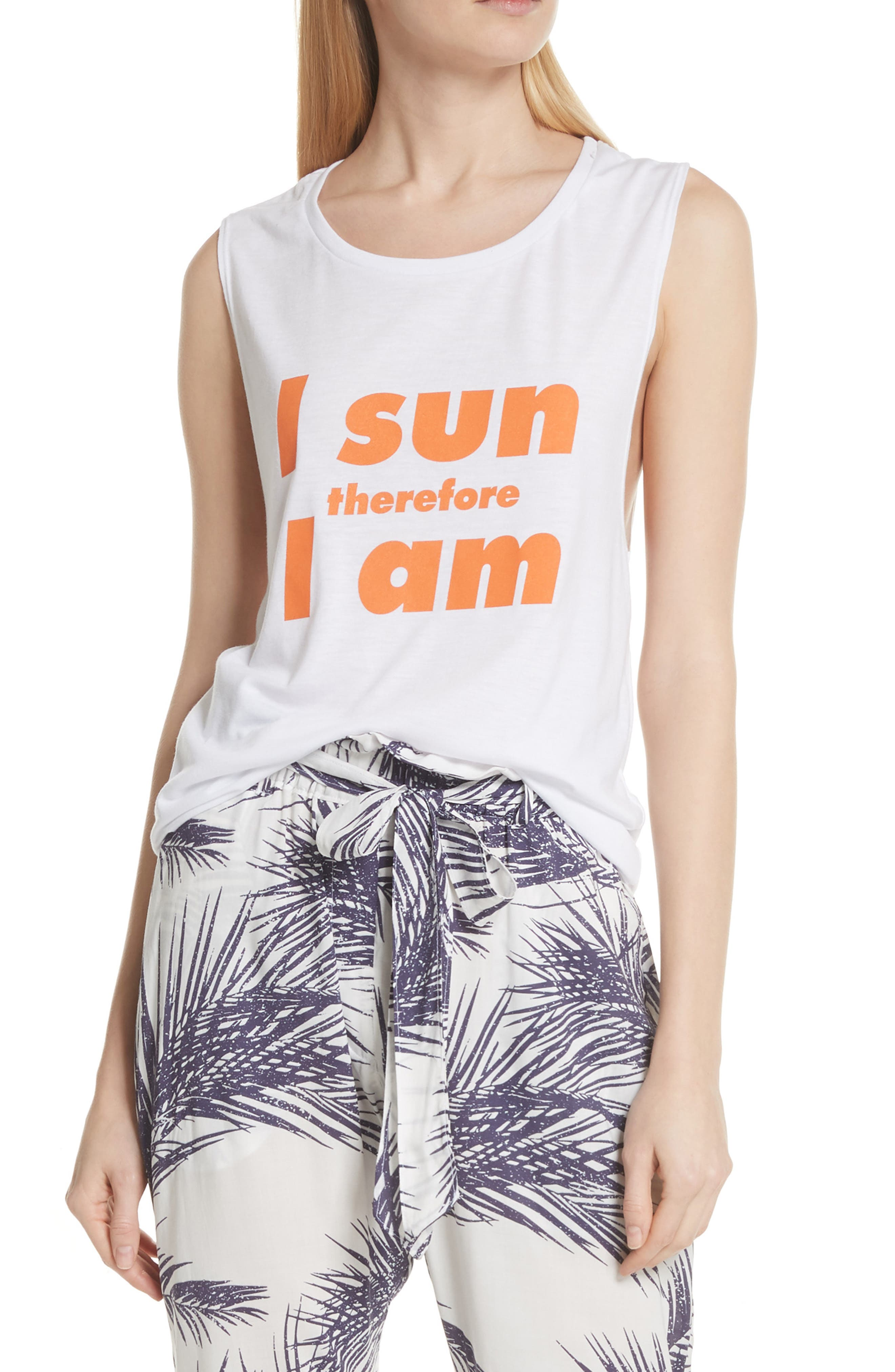 PARADISED,                             I Sun Graphic Muscle Tank,                             Main thumbnail 1, color,                             100