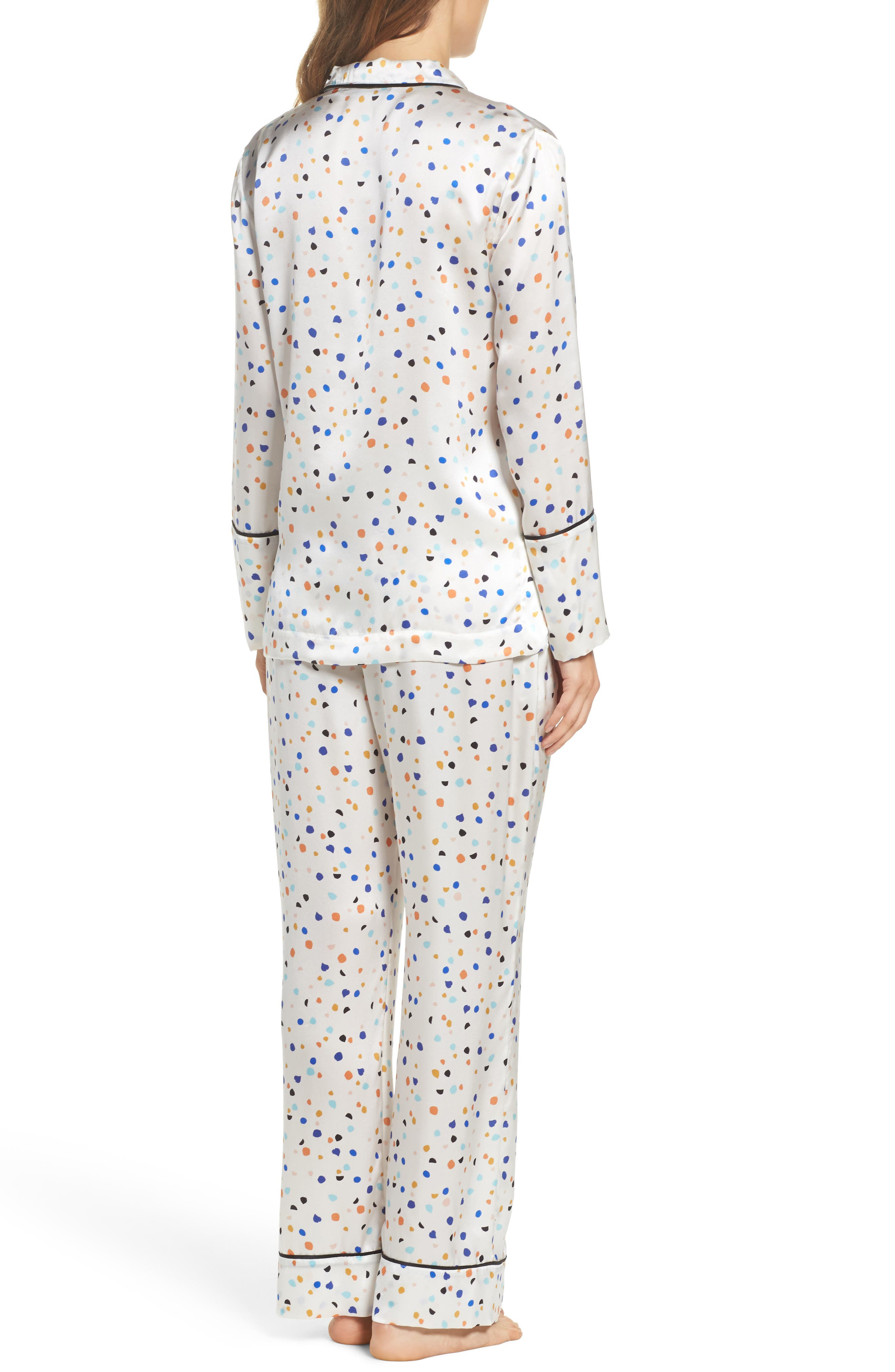 Lisbon Pebble Evie Silk Pajamas,                             Alternate thumbnail 2, color,                             100
