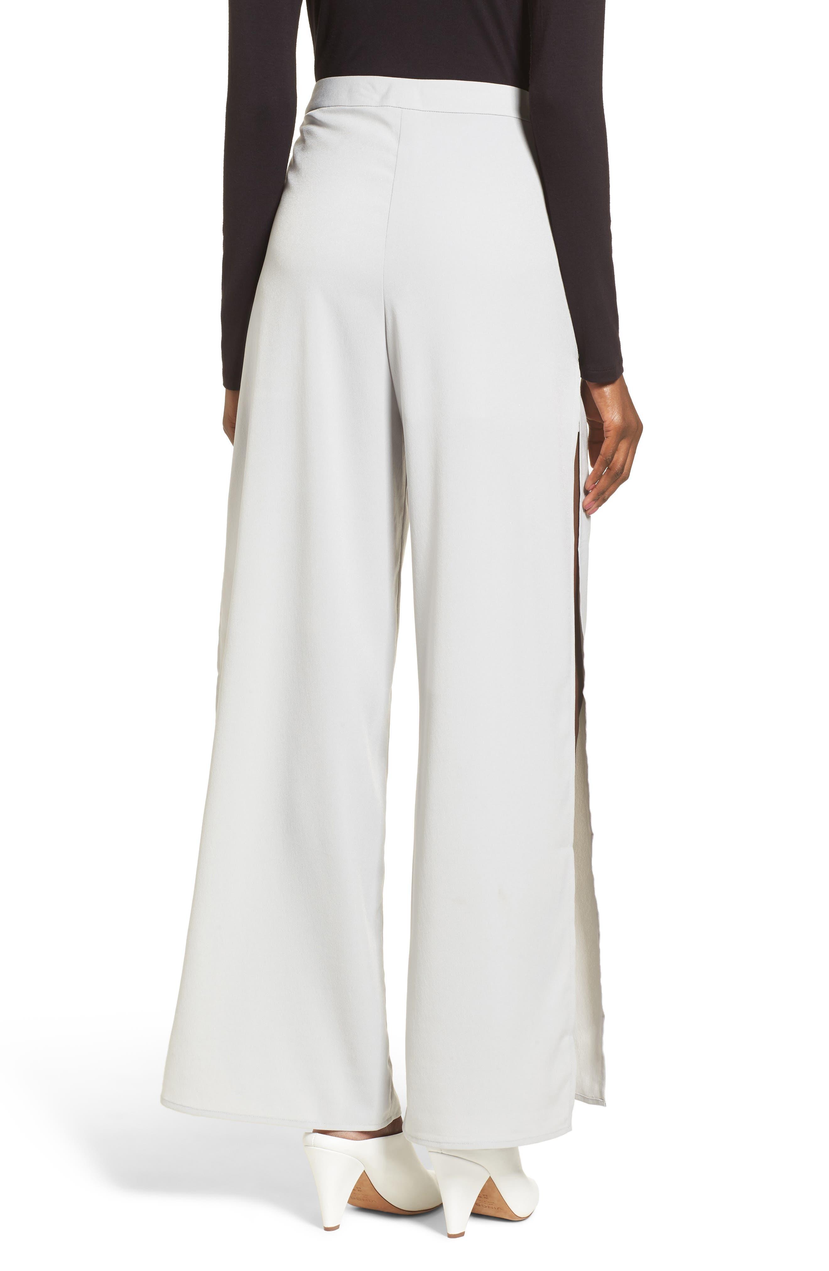High Waist Side Slit Wide Leg Pants,                             Alternate thumbnail 2, color,                             450