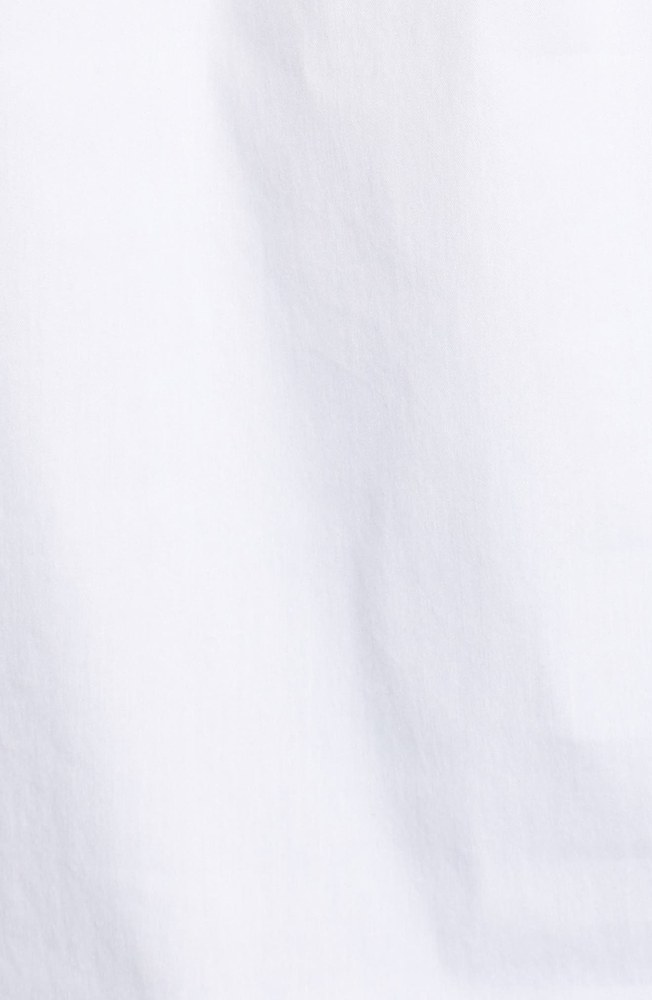Sleeveles Tie Neck Stretch Cotton Poplin Blouse,                             Alternate thumbnail 6, color,                             100